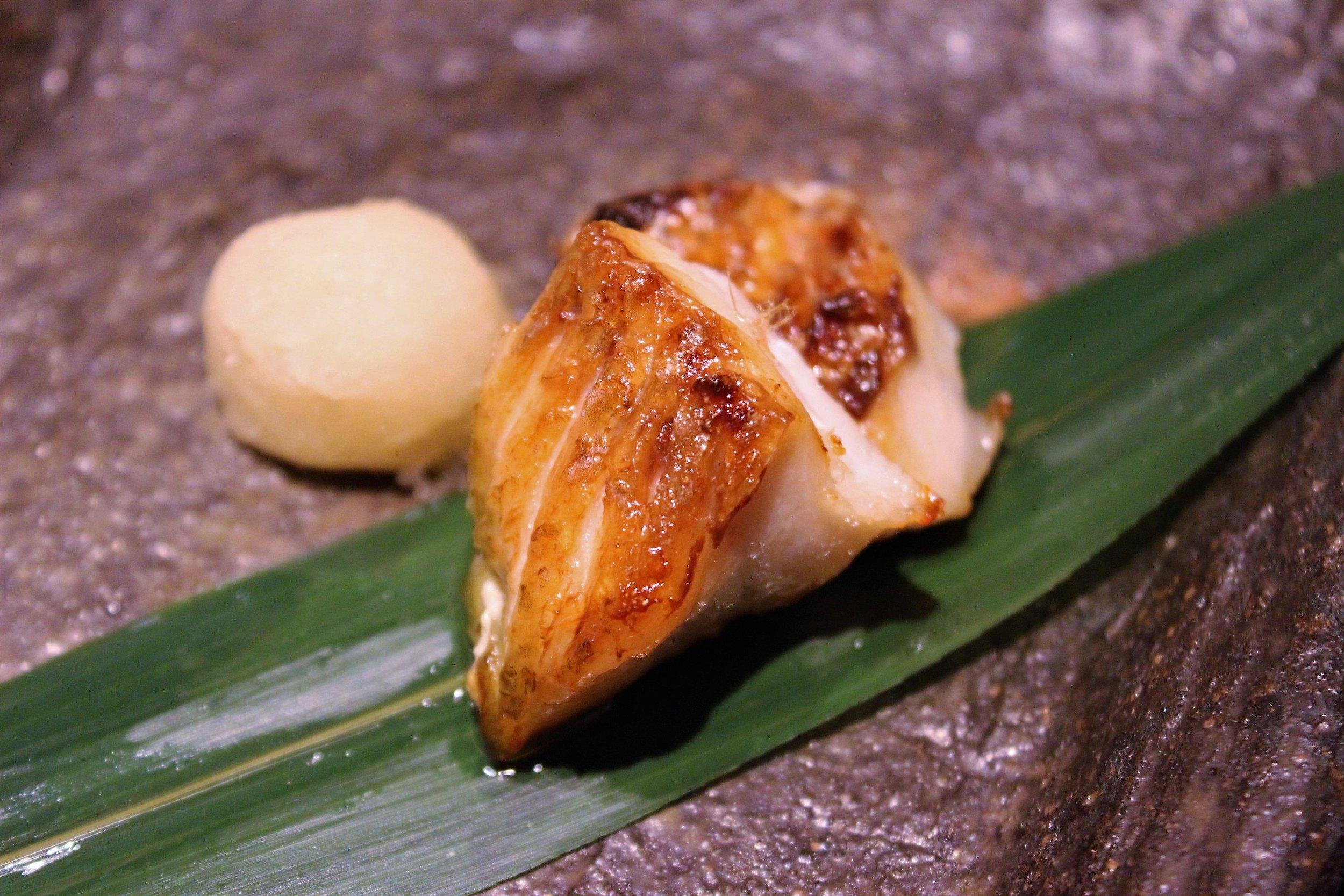 Grilled Nodoguro (Blackthroat Seaperch) at Kien in Tokyo, Japan