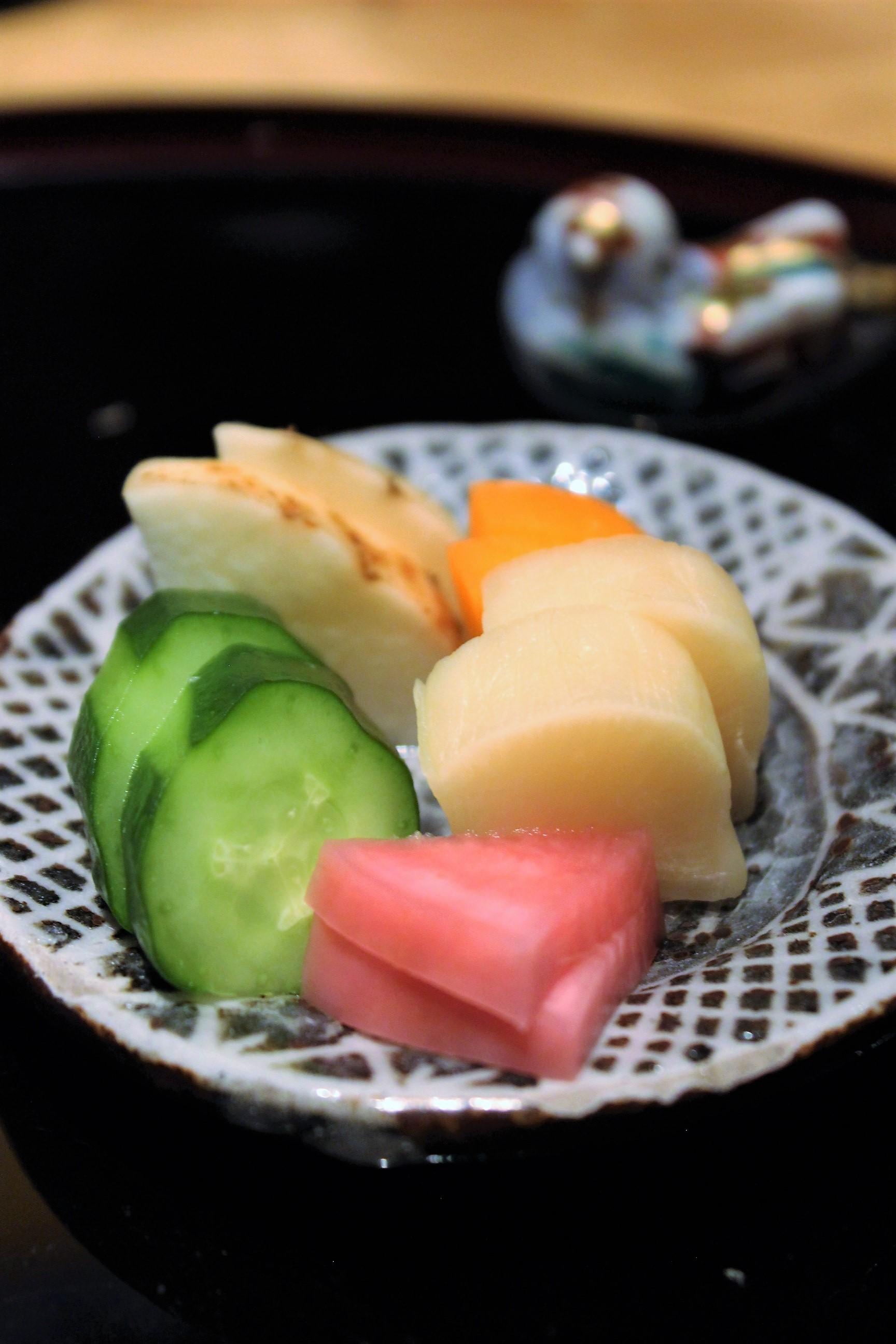 Pickled Vegetables at Kien in Tokyo, Japan