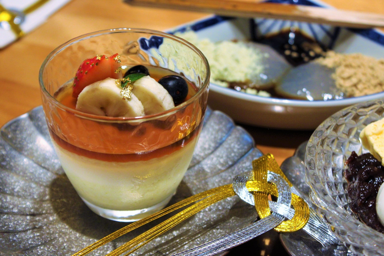 Brown Sugar Blancmange at Kien in Tokyo, Japan