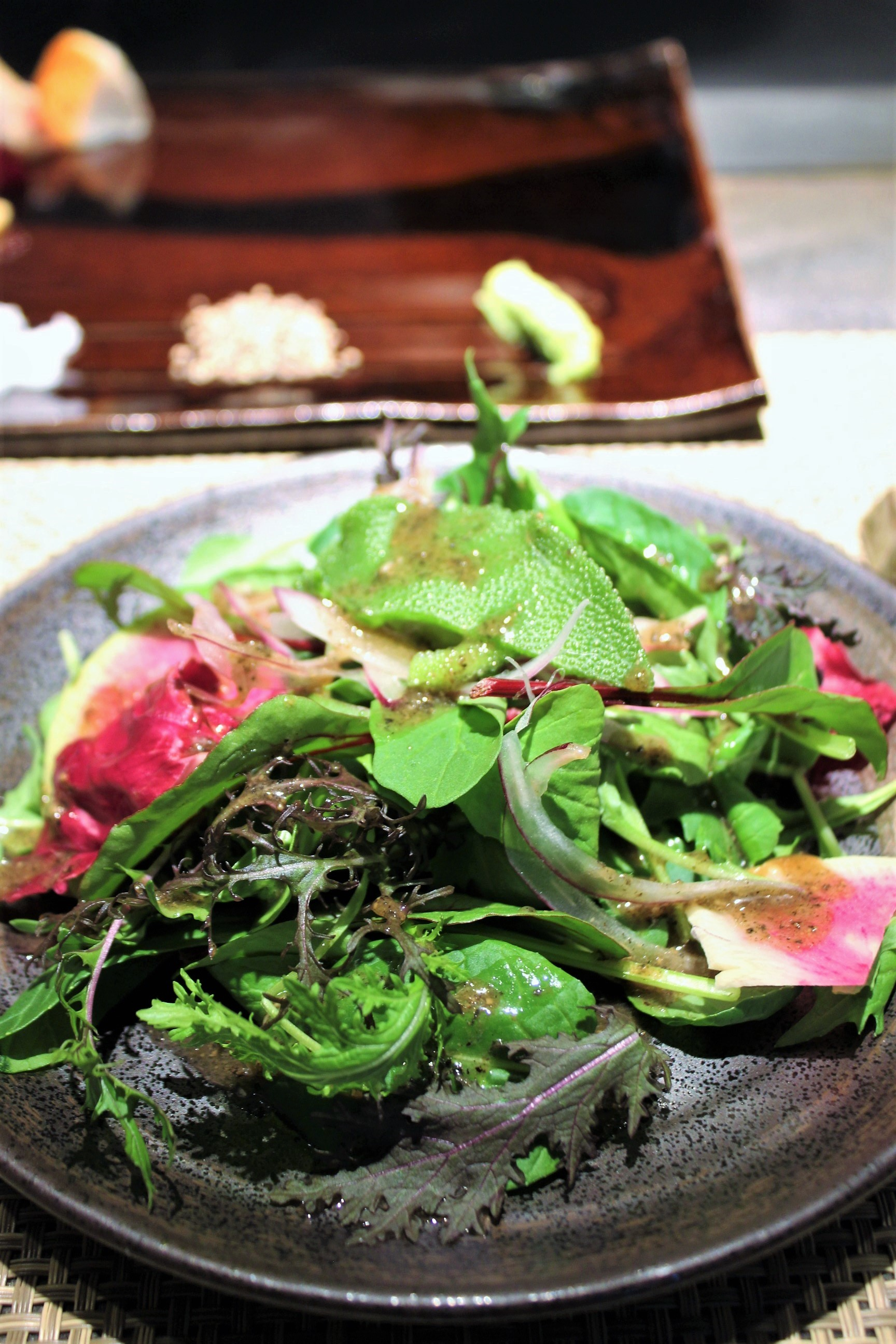 Salad at Mouriya-Lin in Kobe, Japan