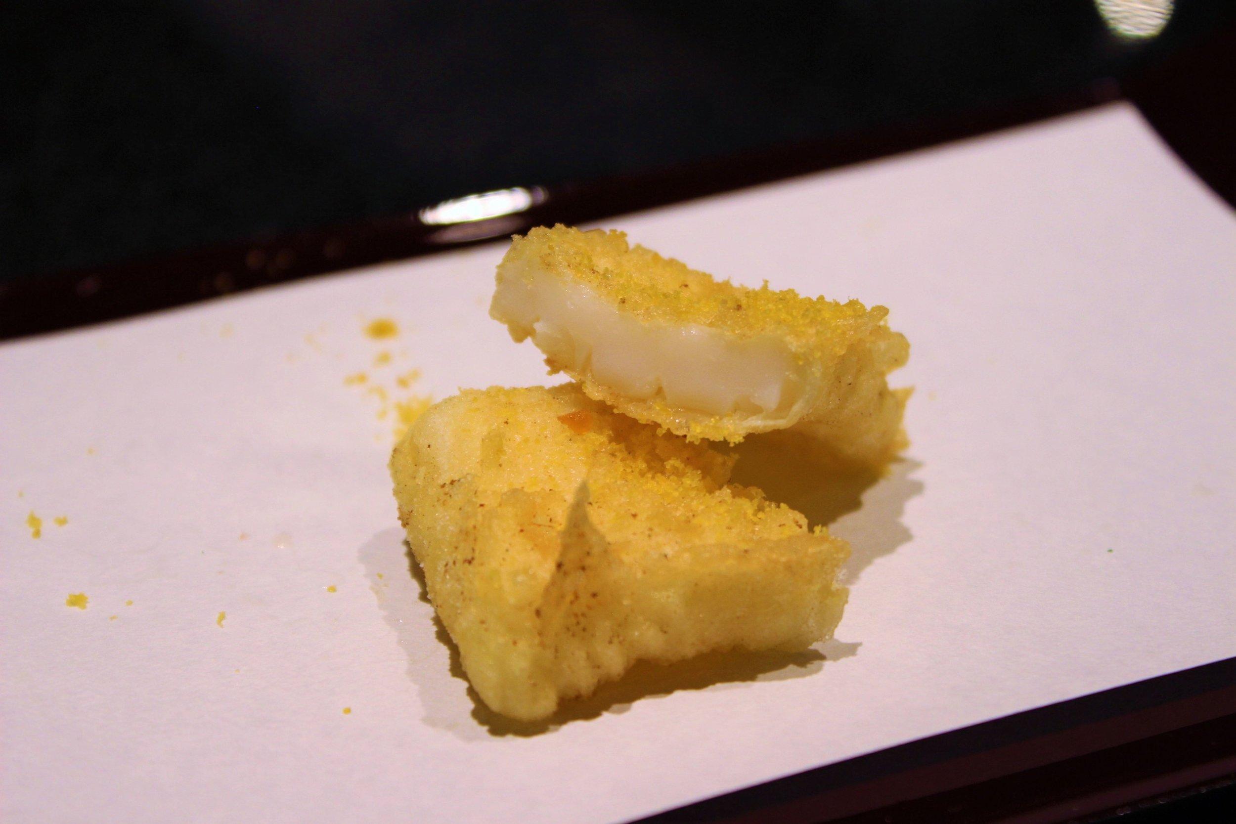 Calamari and Dried Mullet Roe at Tempura Endo Yasaka