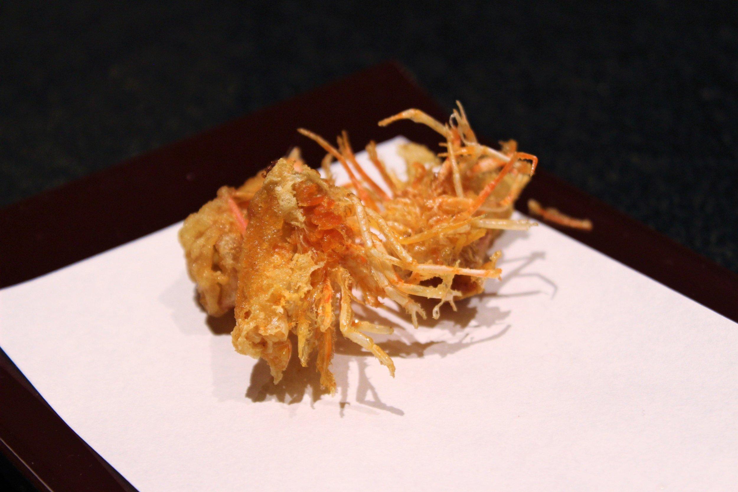 Shrimp Tempura Heads and Bodies at Tempura Endo Yasaka