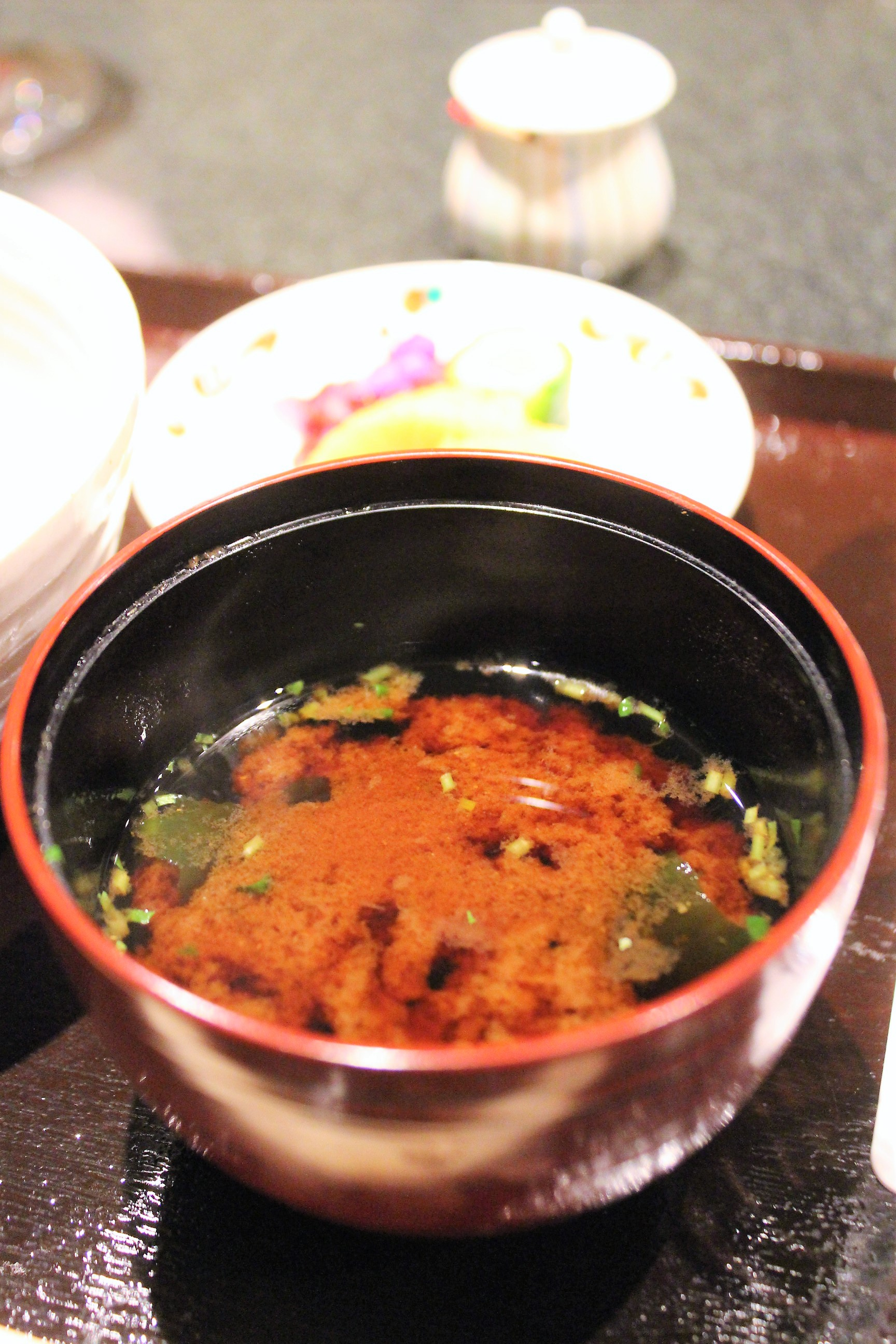 Akadashi Red Miso Soup at Tempura Endo Yasaka