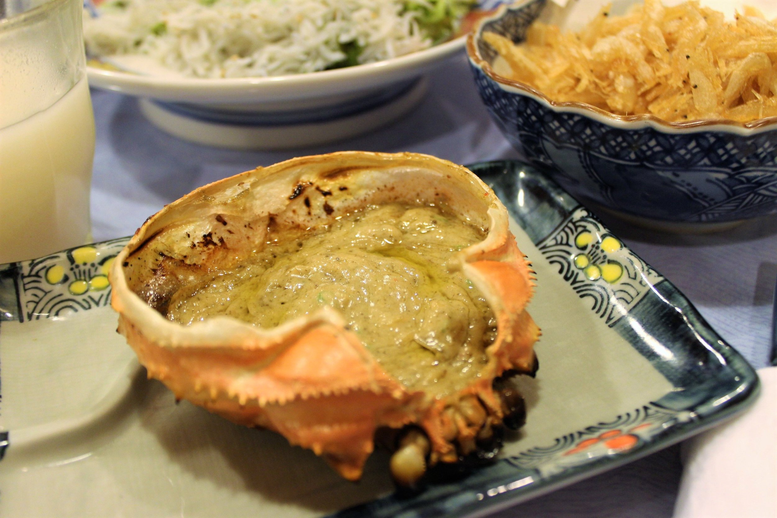 Grilled Kanimiso Koura Yaki