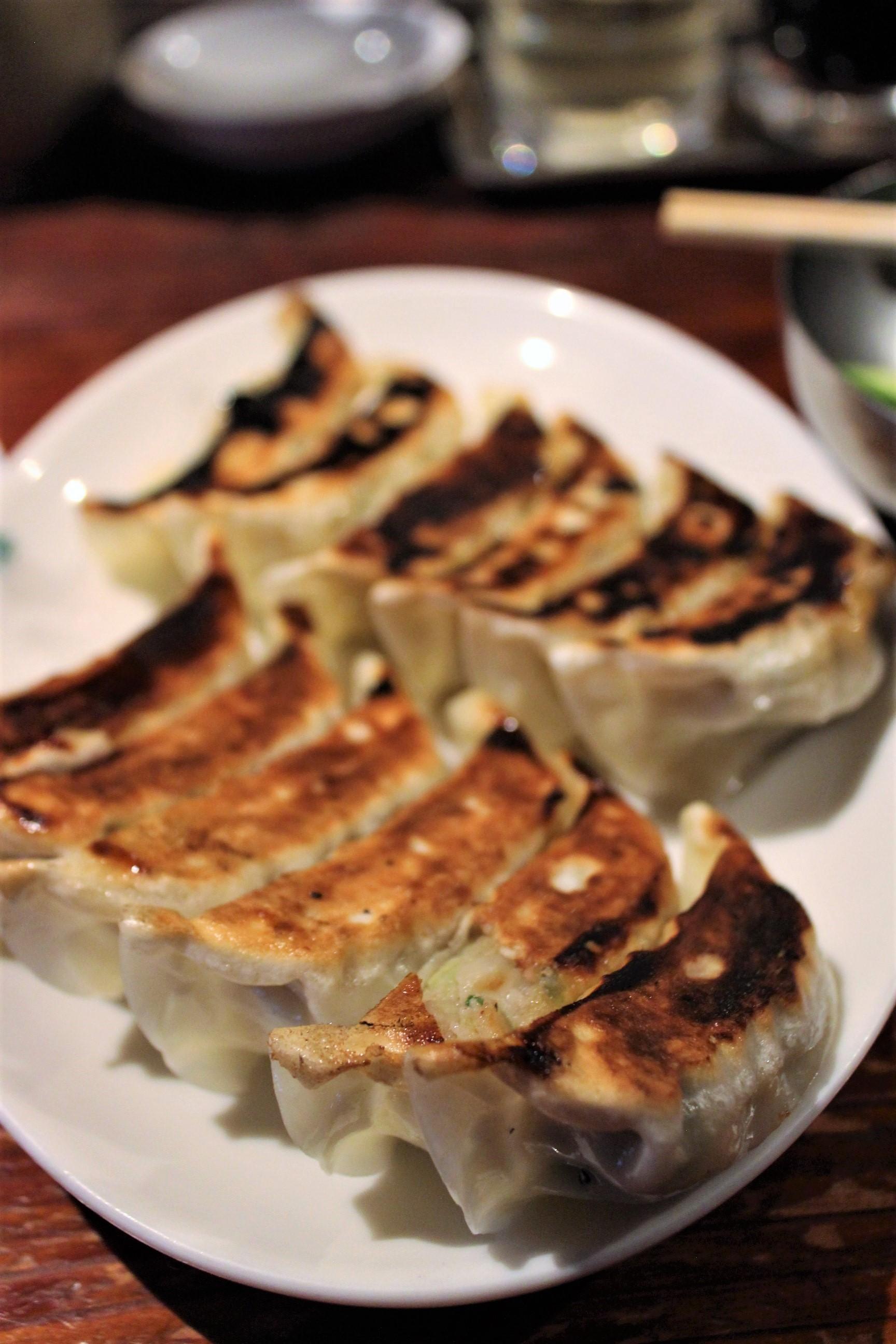 Pan-Fried Dumplings with Garlic & Chives