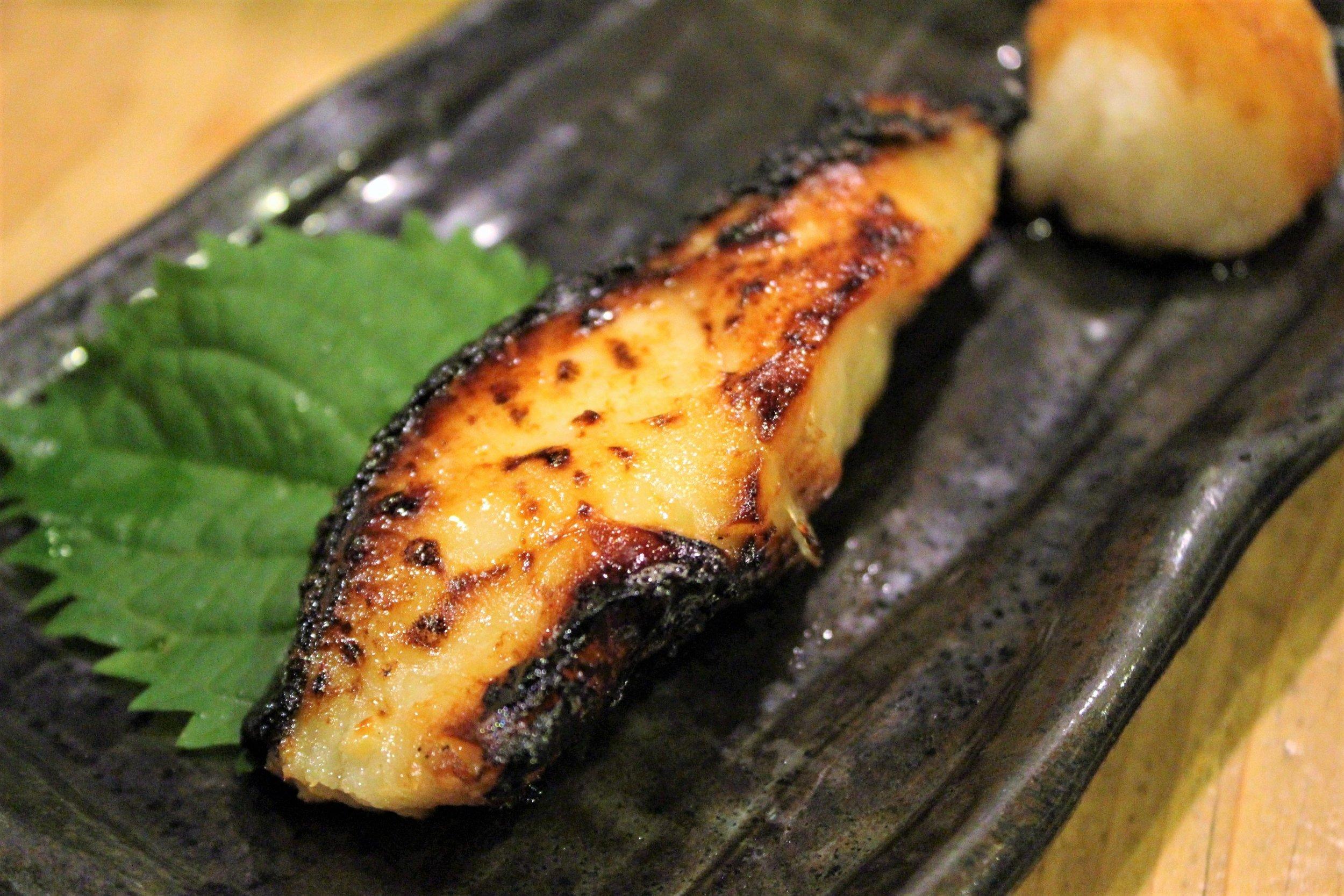 Grilled Black Cod with Saikyo Miso at Ganchan in Tokyo