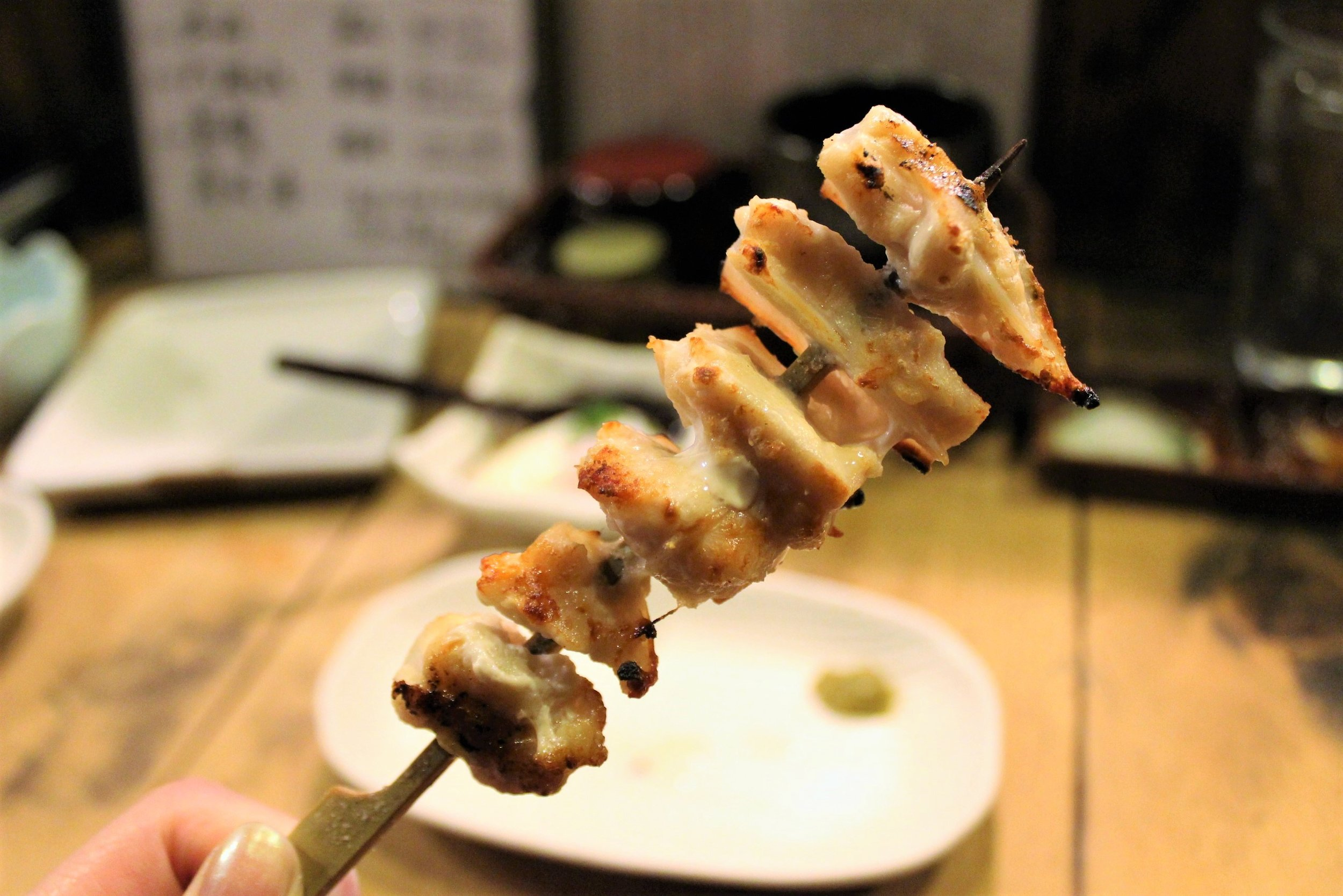 Nankotsu Chicken Pieces with Soft Bone at Ganchan in Tokyo