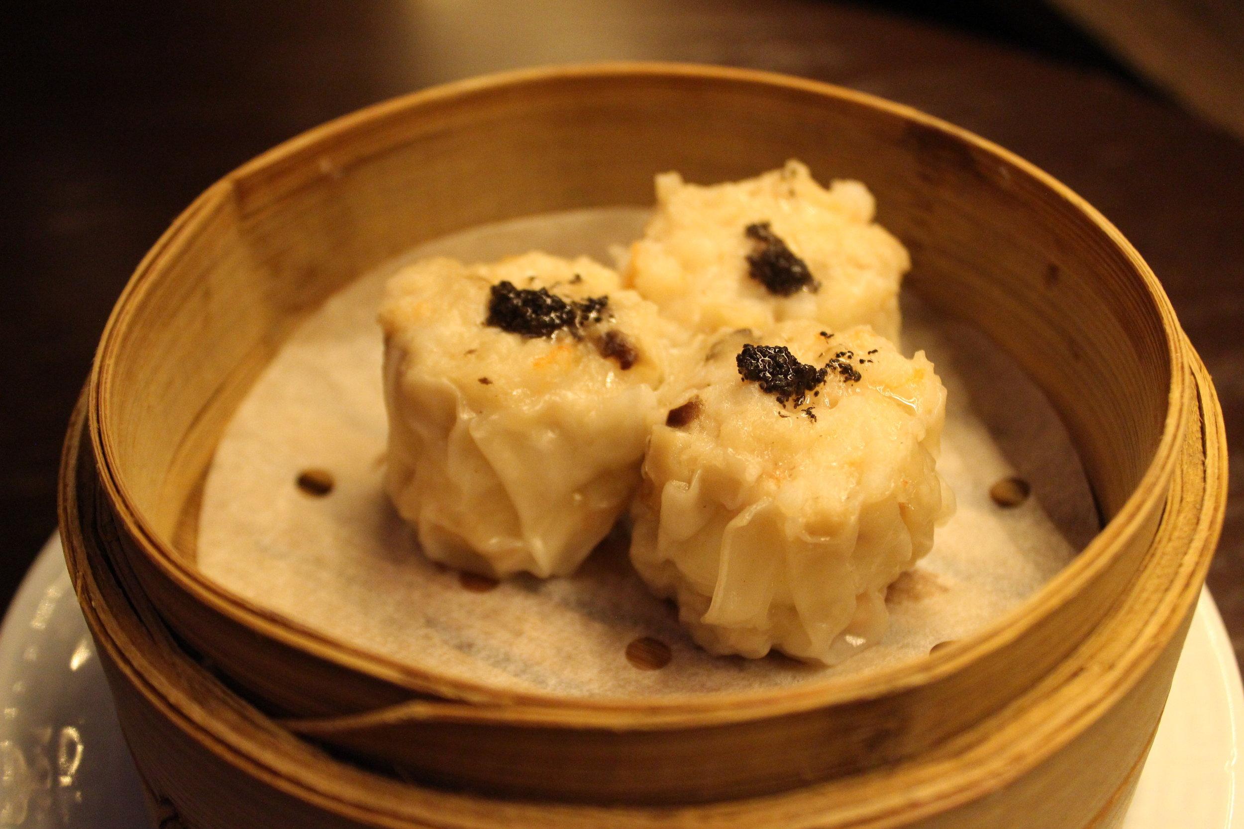 Soft Quail Egg, Iberico Pork, Black Truffle Siu Mai