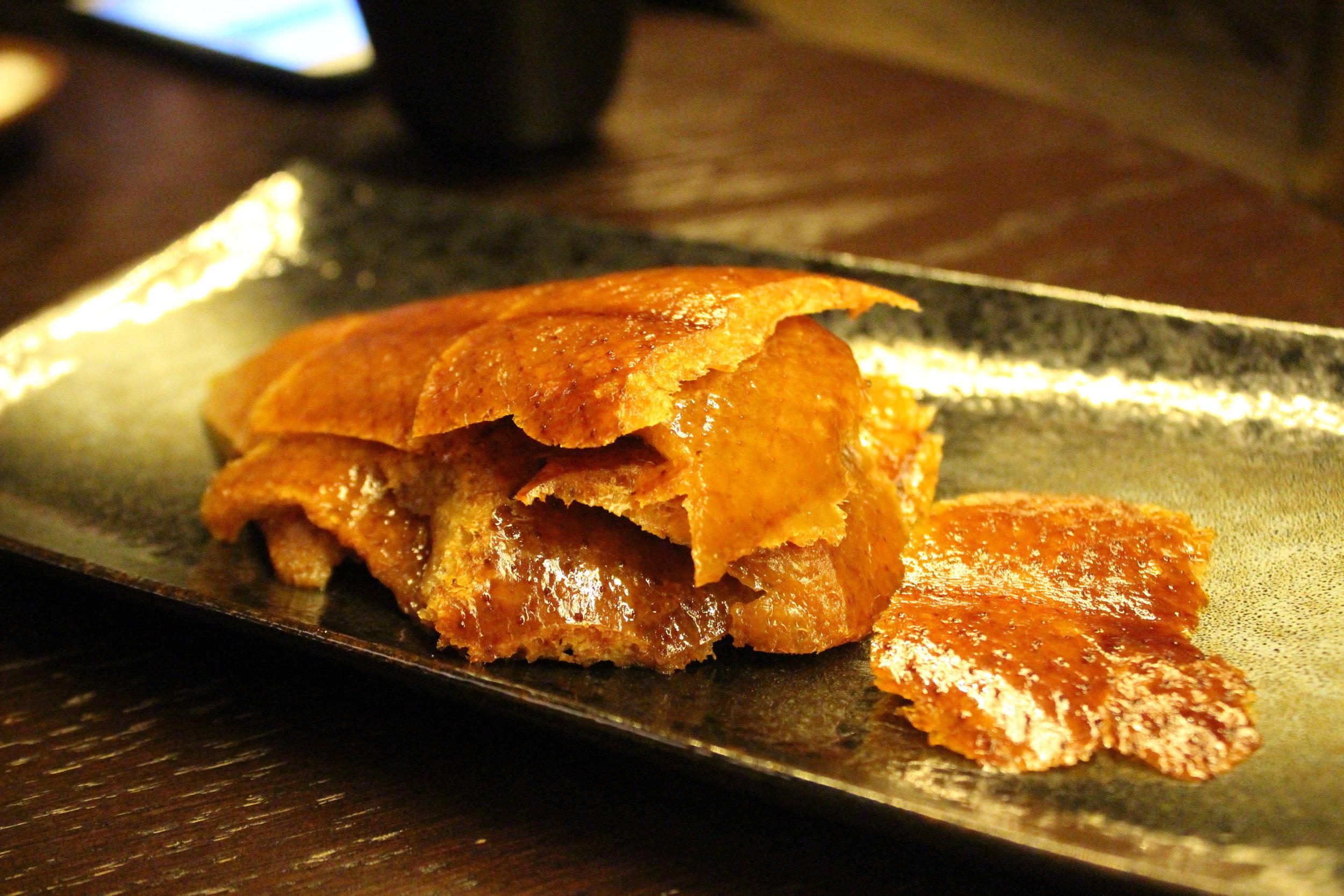 Apple Wood Roasted 42 Days Peking Duck at Mott 32 in Hong Kong