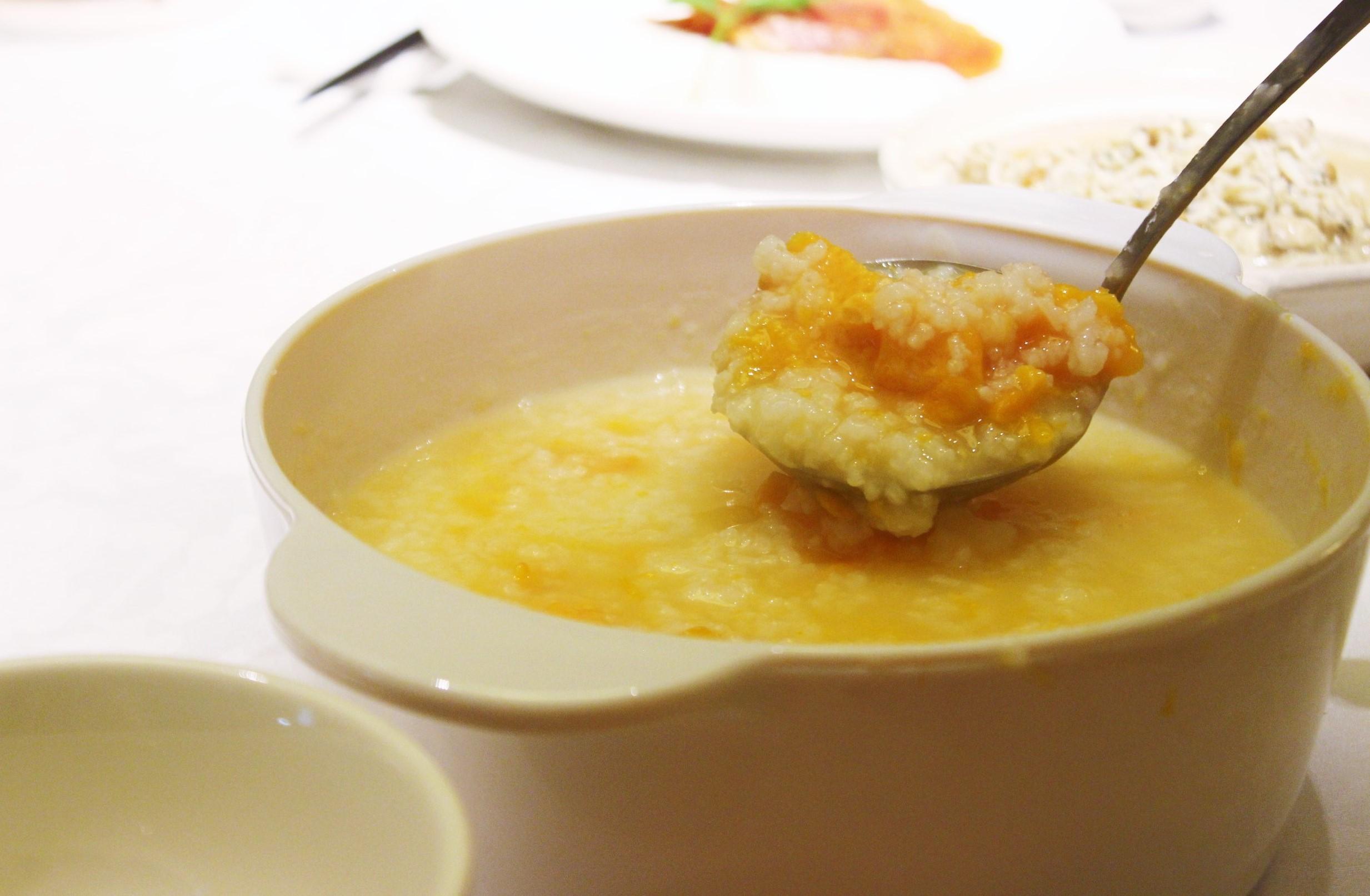 Sweet Potato Porridge 地瓜粥 at 欣葉 in Taiwan