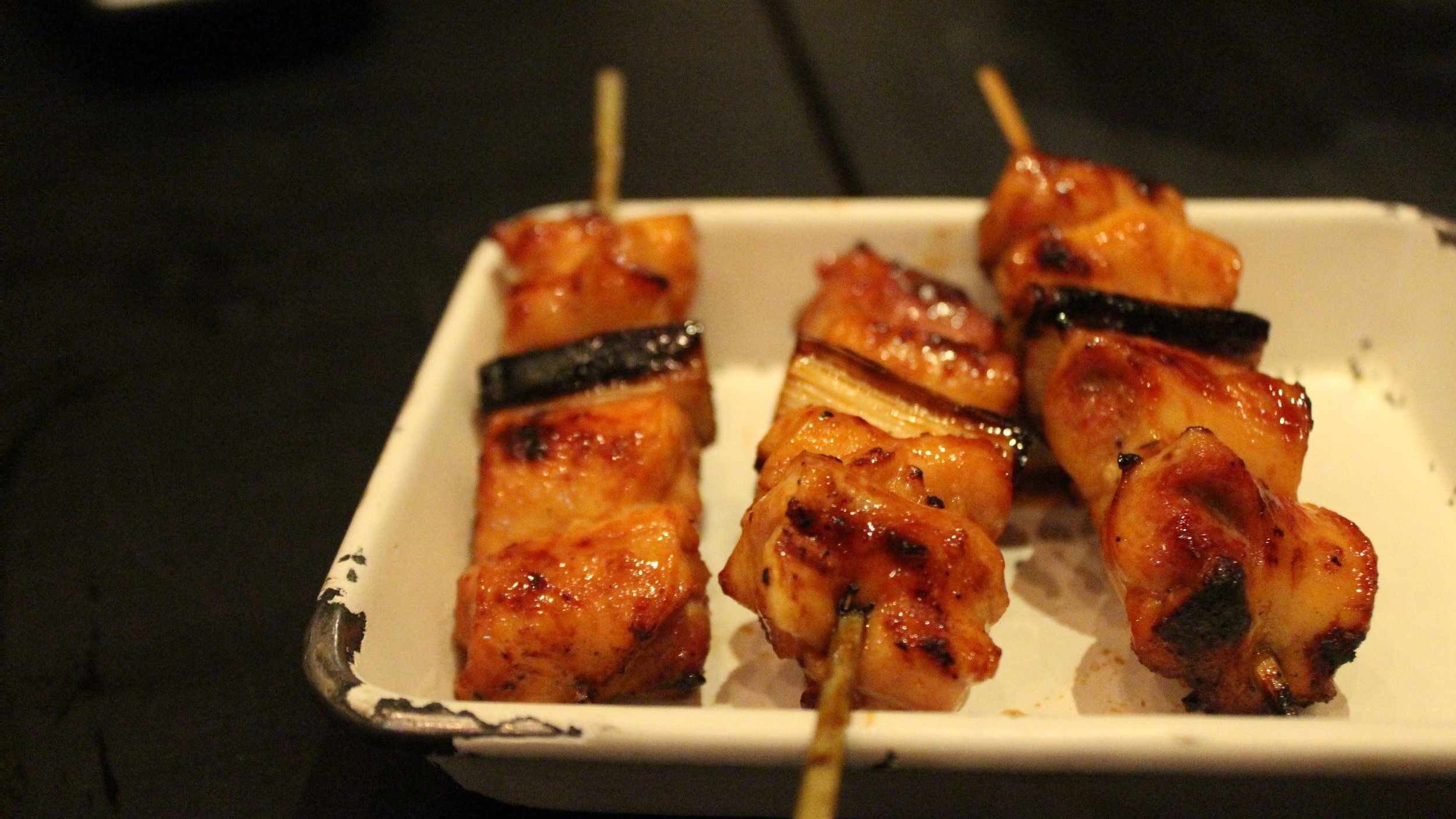 Chicken Thigh Yakitori with Welsh Onion and Tare