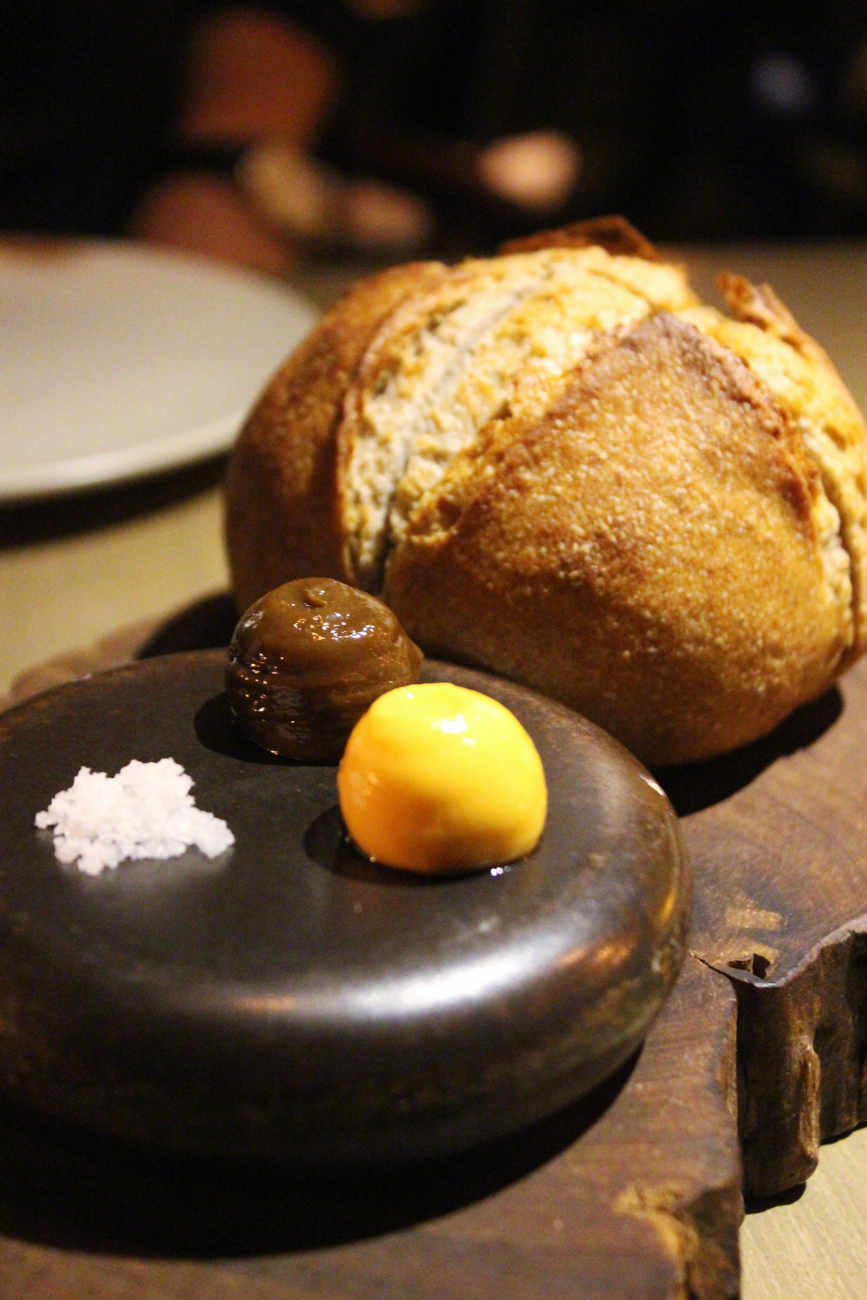 Country Sourdough with Beer Butter & Smoked Beef Fat Butter at Mume in Taiwan