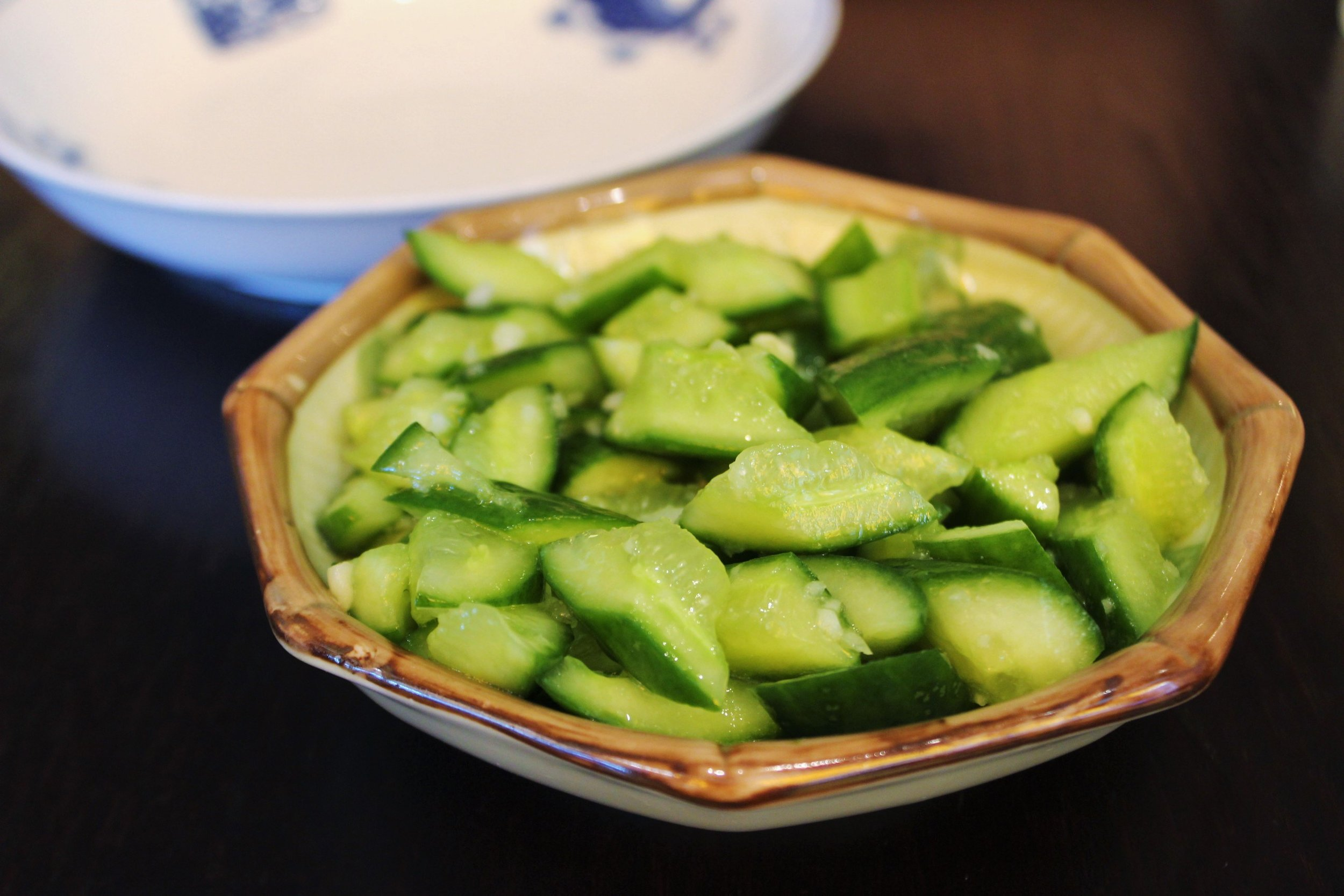Baby Cucumber in Garlic Sauce at Cafe China