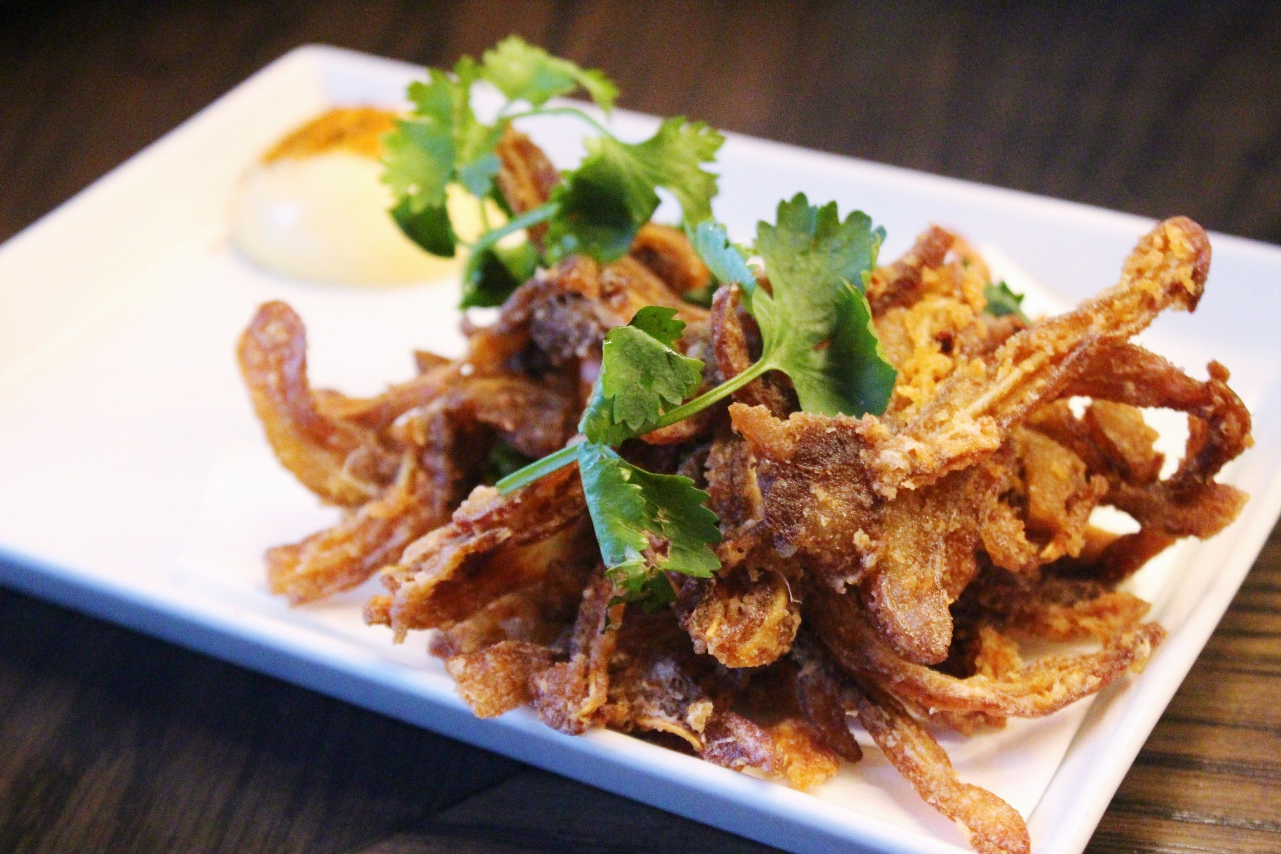 Crispy Mimiga: Pig Ear, Shichimi, Japanese Mayo, Sake