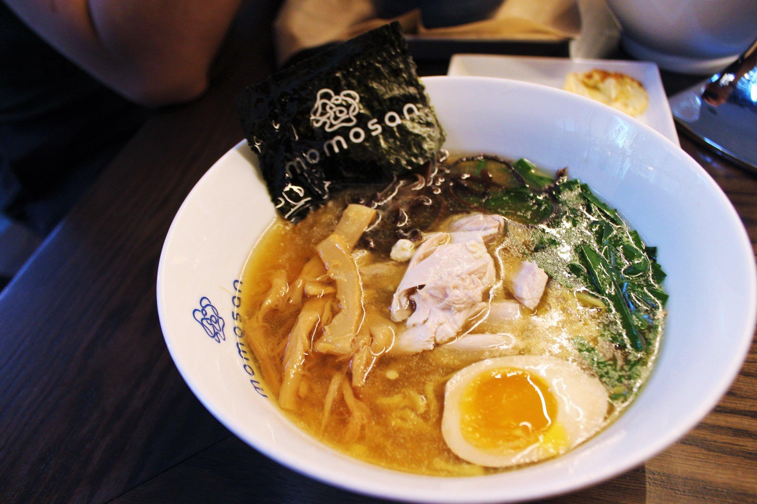 Tokyo Chicken: Steamed Chicken, Aji-Tama, Menma, Seared Garlic Chive, Kikurage, Toasted Nori, Soy Tare