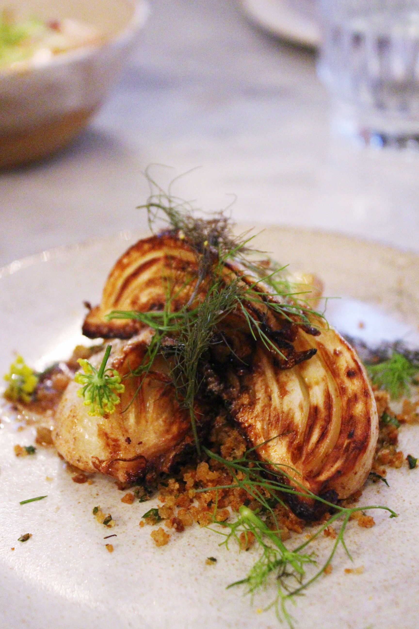 Caramelized Young Fennel, Anchovy Butter, Herbed Breadcrumbs