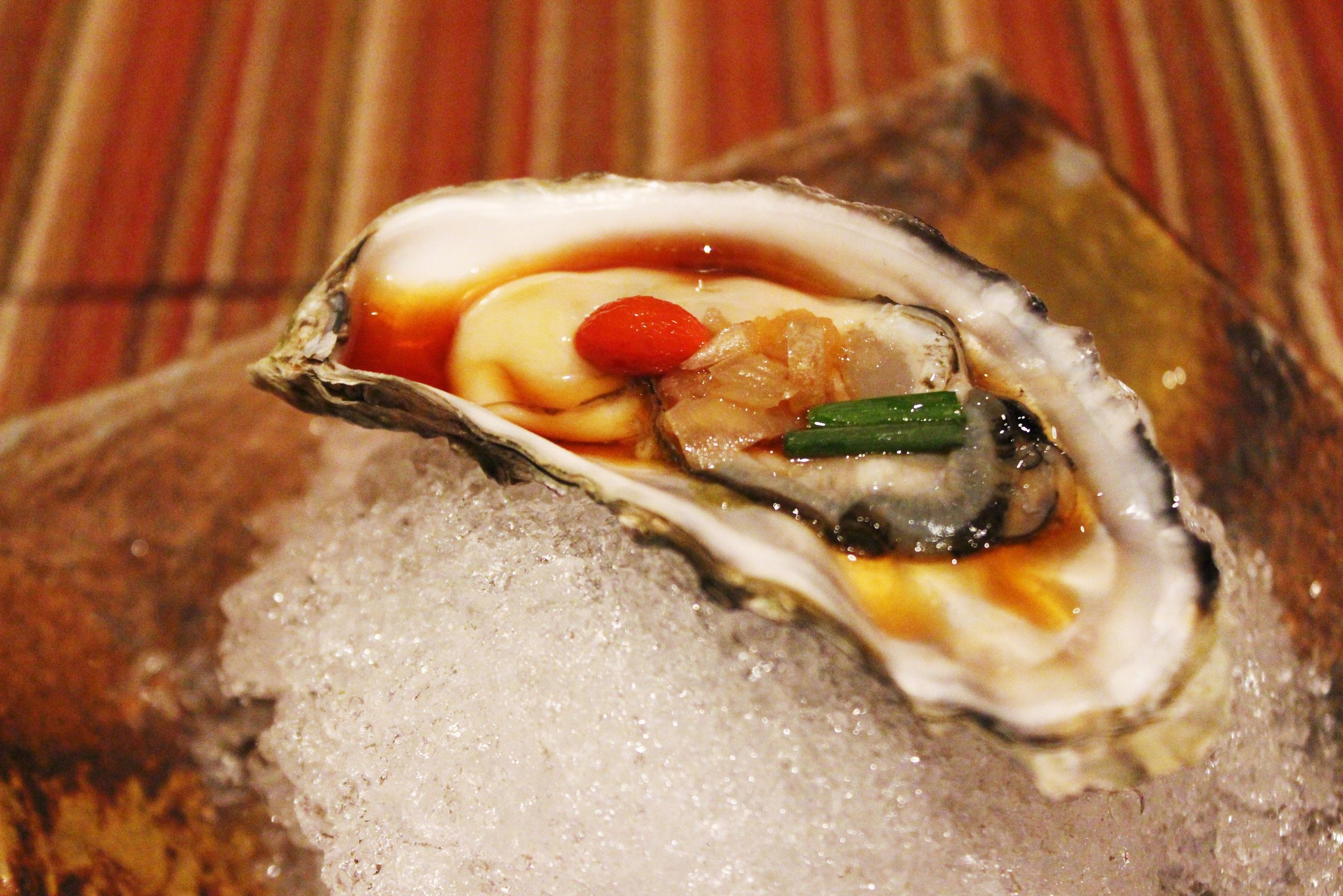 """Otsukuri"" Fifth Course: Fresh Oyster and Sashimi of the Day"
