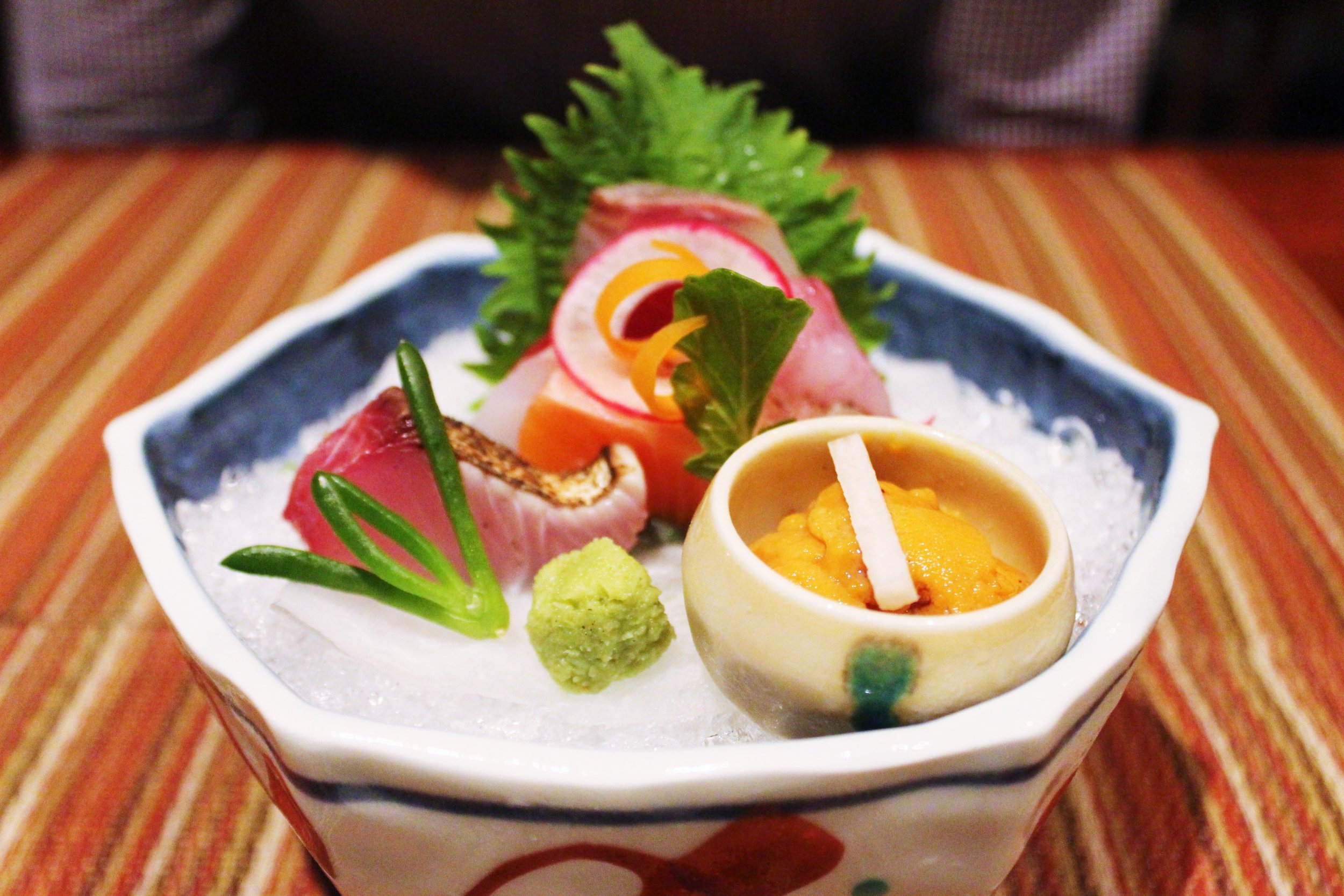 """""""Otsukuri"""" Fifth Course: Fresh Oyster and Sashimi of the Day"""