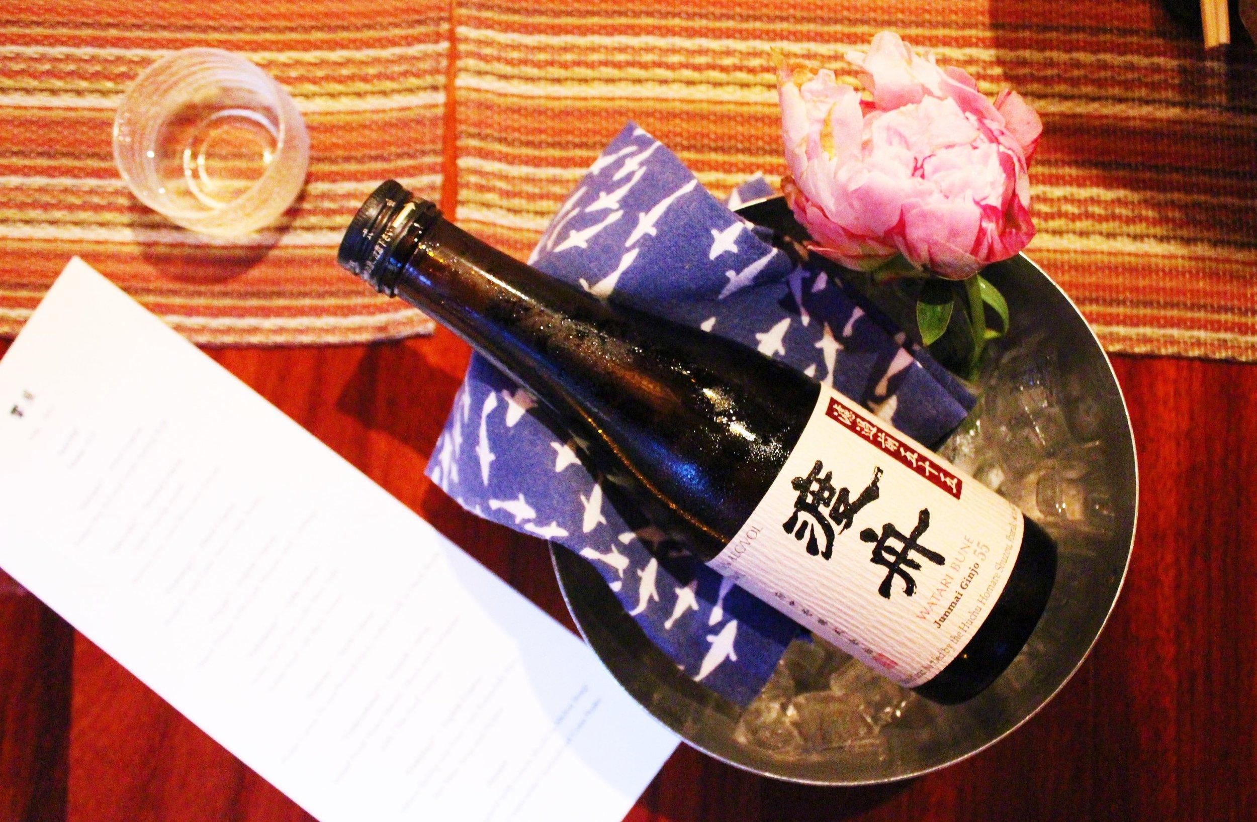 Sake: Watari Bune Junmai Ginjo 55 at Kyo Ya