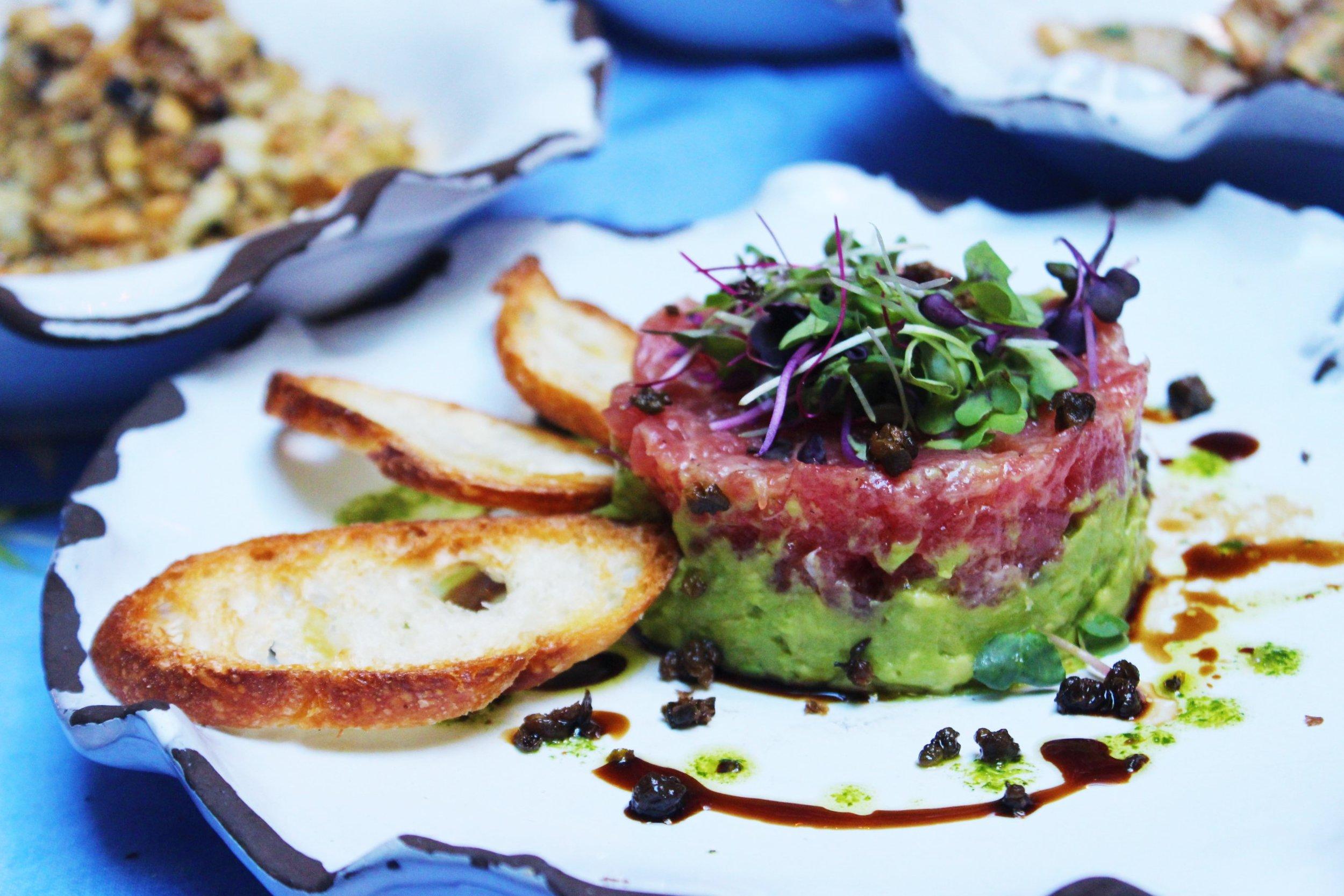 Tartare Di Tonno Yellowfin Tuna Tartare With Capers And Avocado