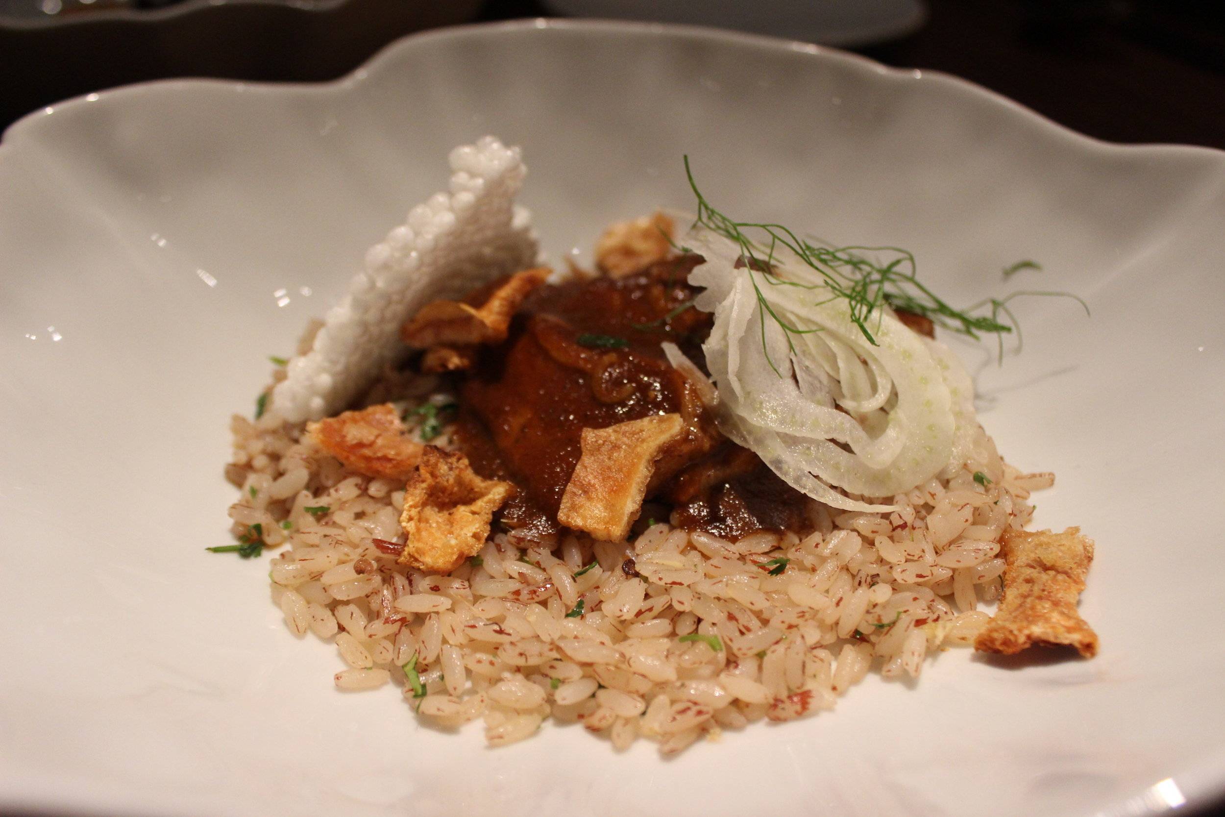 Pork Belly Vindaloo, Goan Red Rice