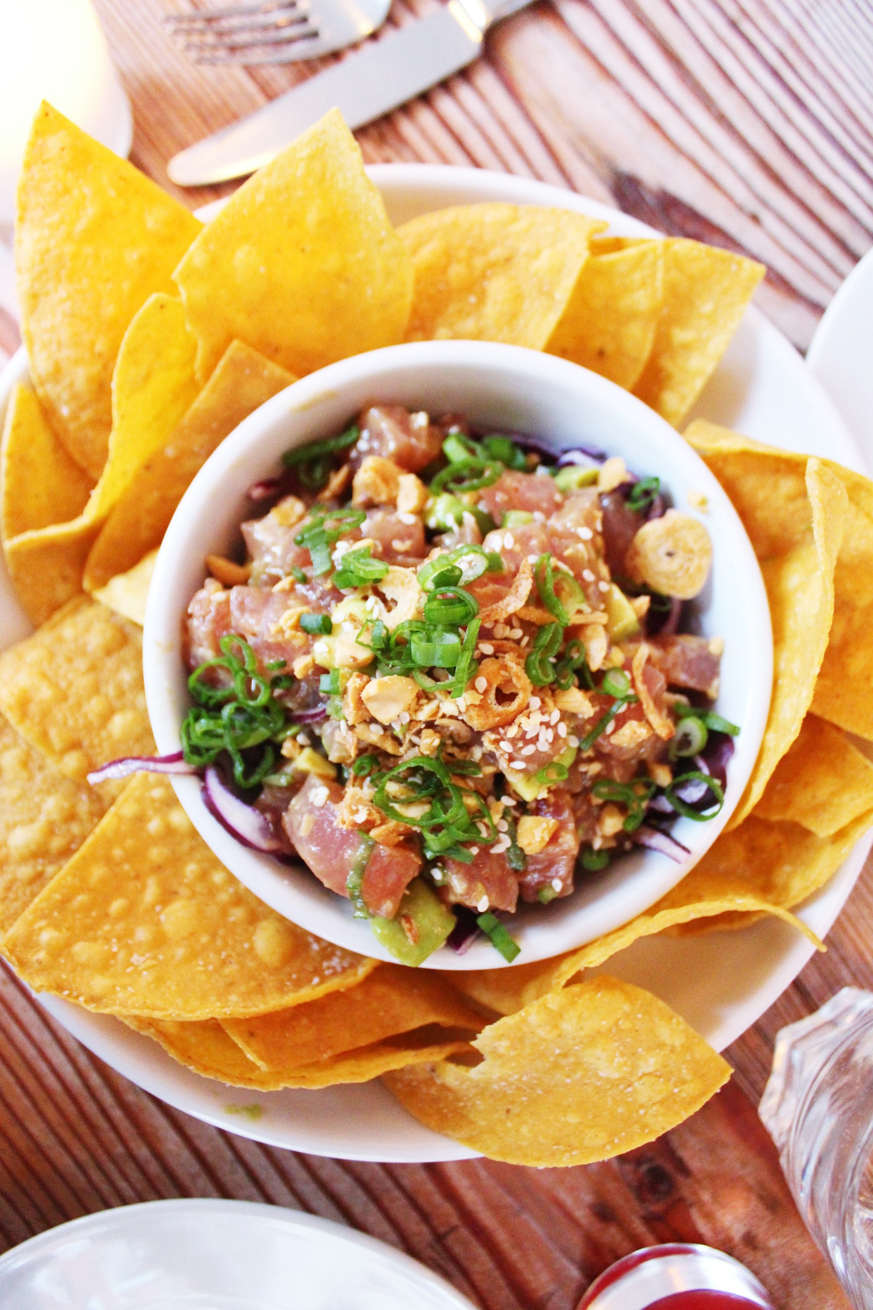 Poke with Ponzu, Peanuts, and Avocado at Seamore's in New York City