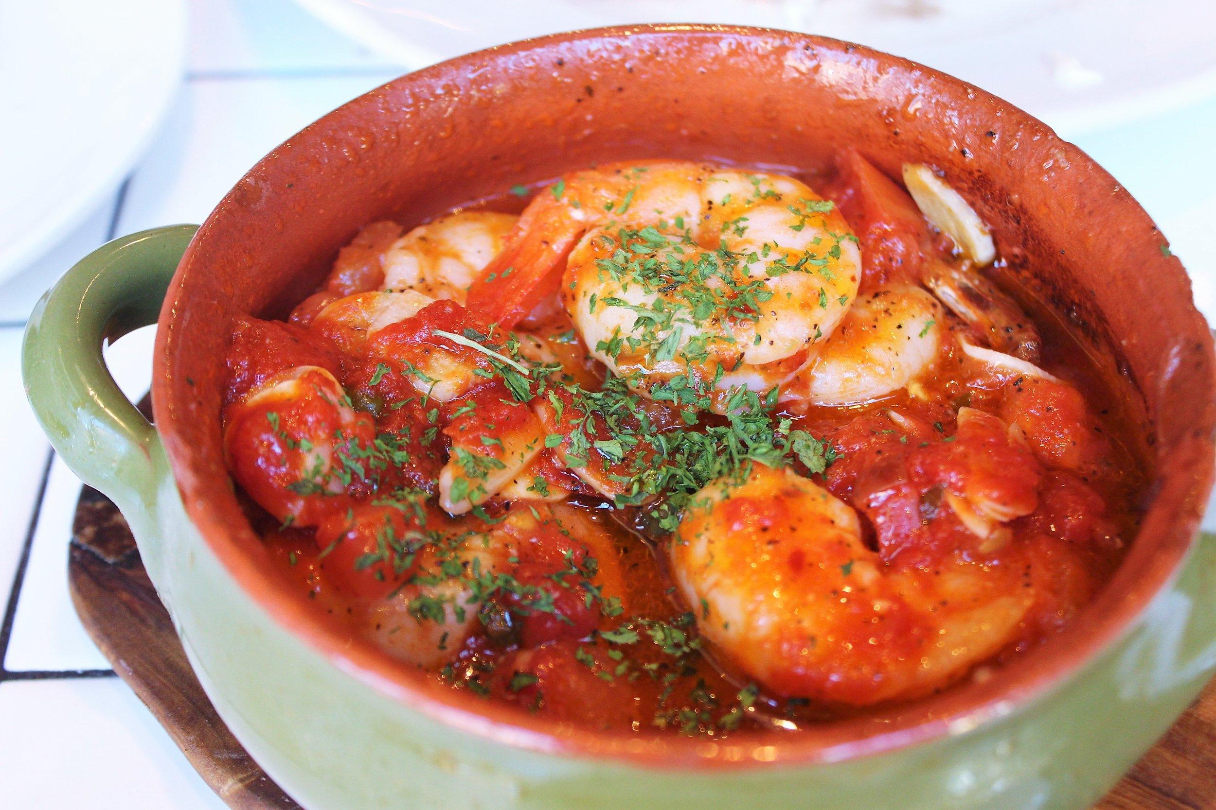 Gamberi e Aglio e Olio: Shrimp Scampi, Garlic, Olive Oil