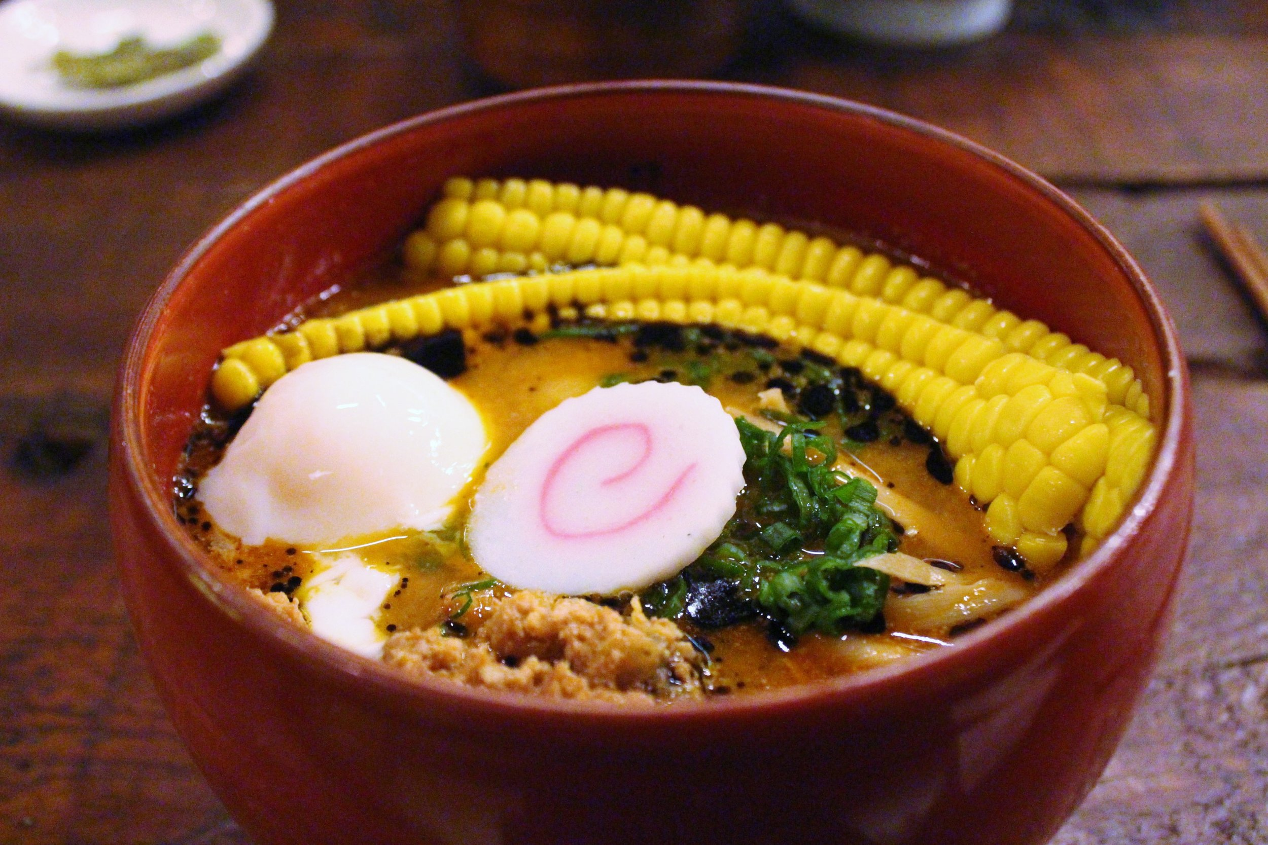 Spicy Miso Ramen: Red Miso and Pork Based Soup