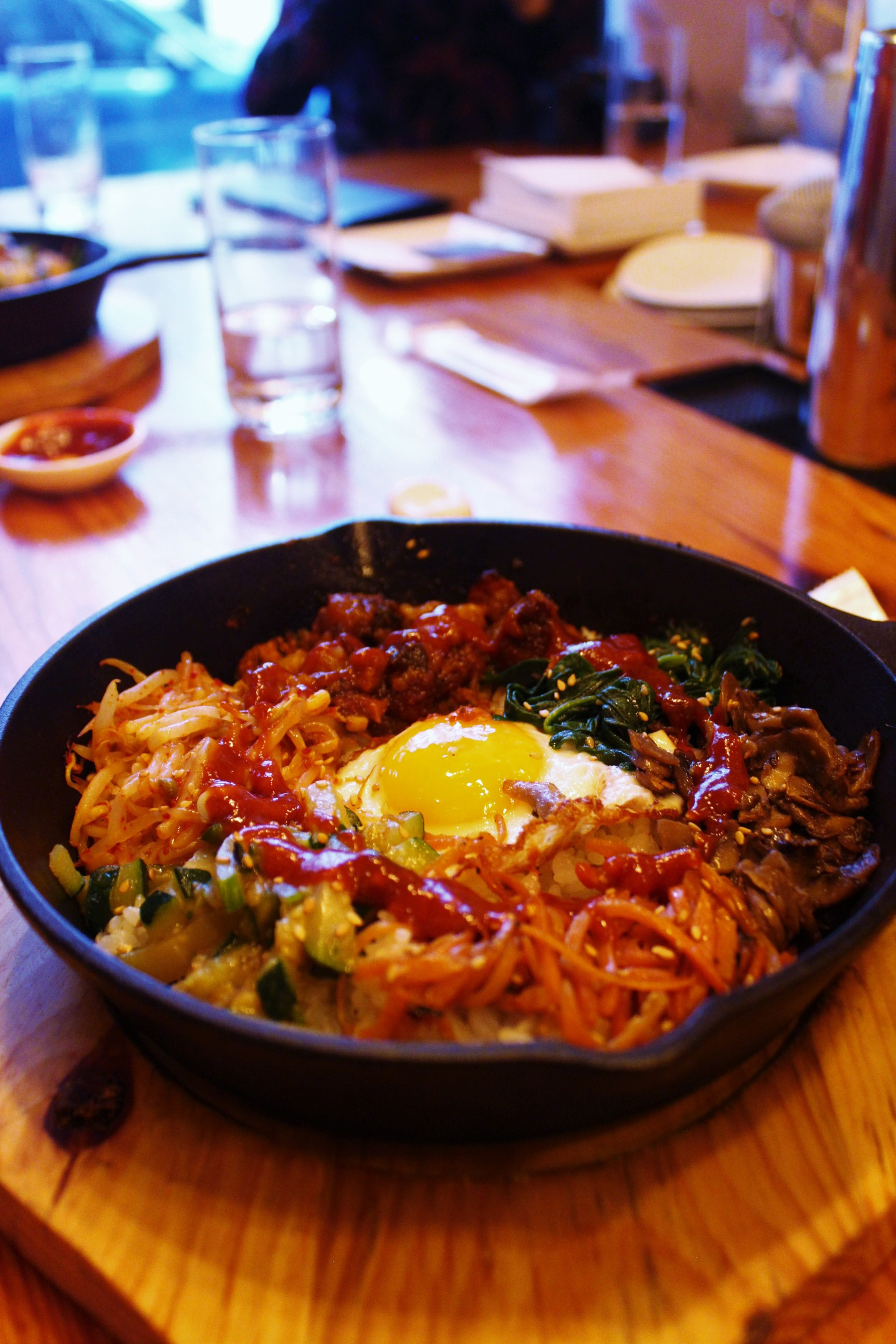 Spicy Pork Bibimbap in Sizzling Hot Plate at Danji
