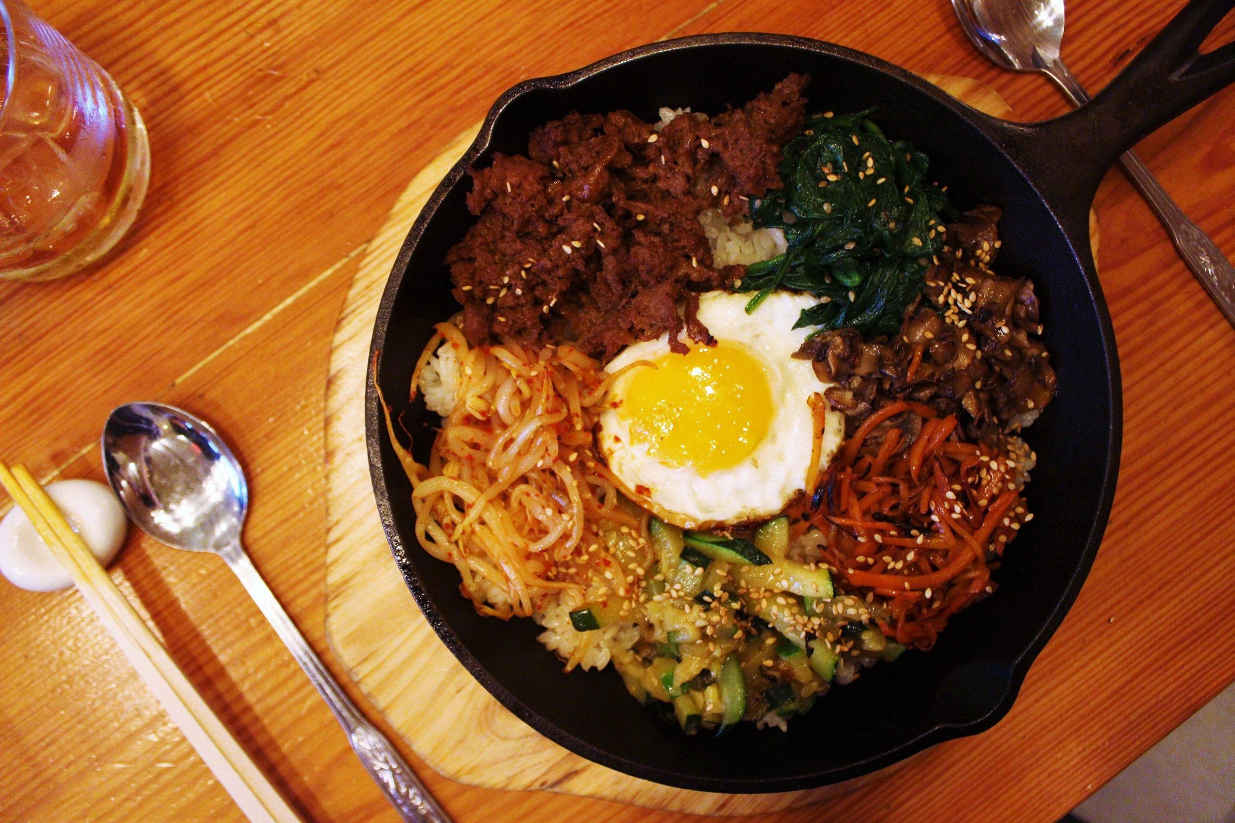 Beef Bulgogi Bibimbap in Sizzling Hot Plate at Danji