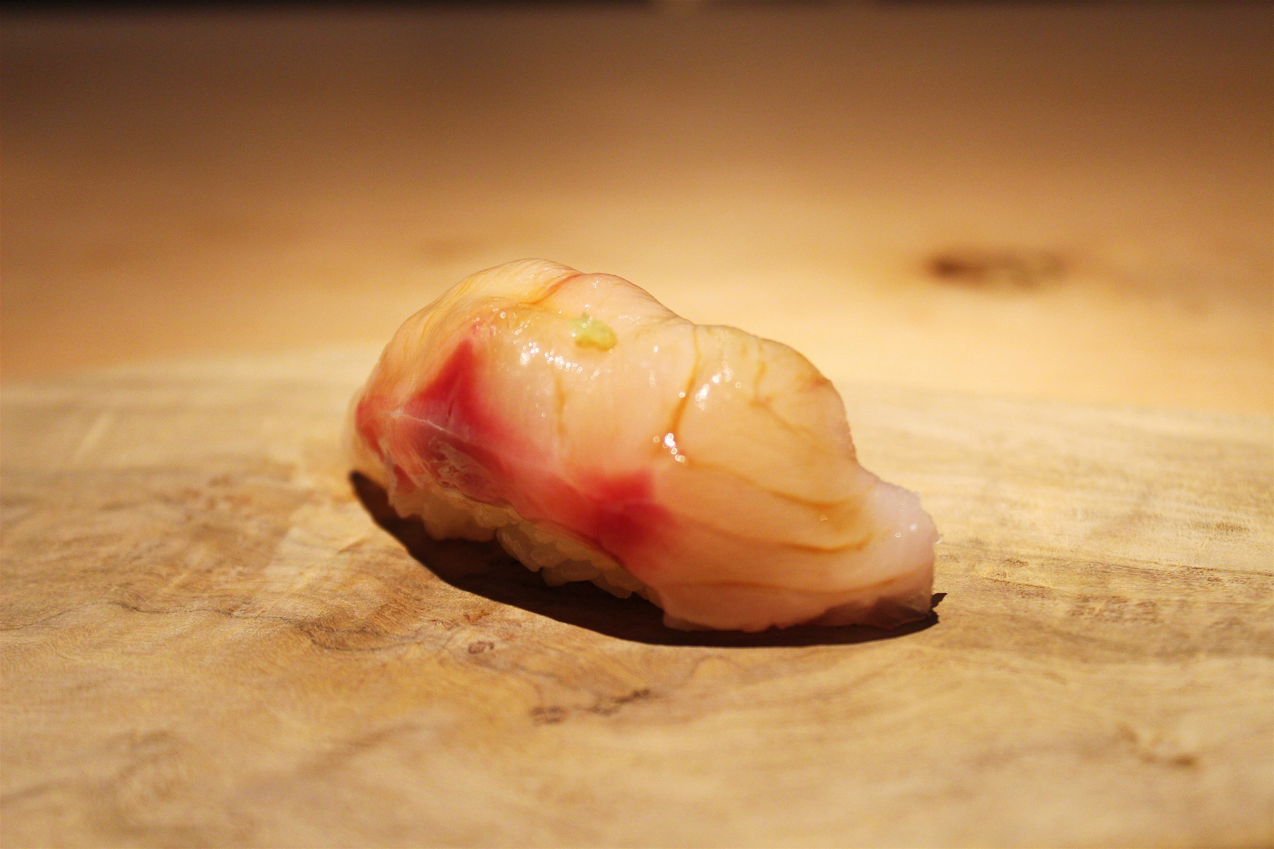 Akamutsu from the East Coast of Japan with Freshly Grated Ginger at NAOE