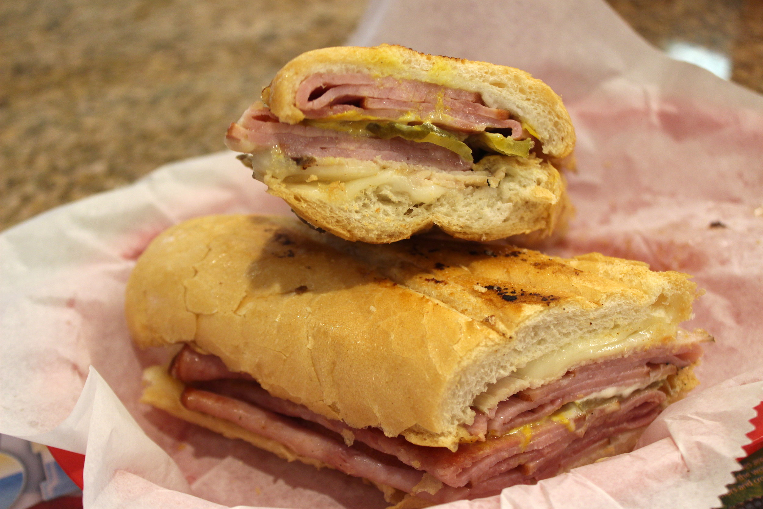 Cuban Sandwich (Ham, Cheese, Pork, Pickles, Mustard, Mayo) at Enriqueta's