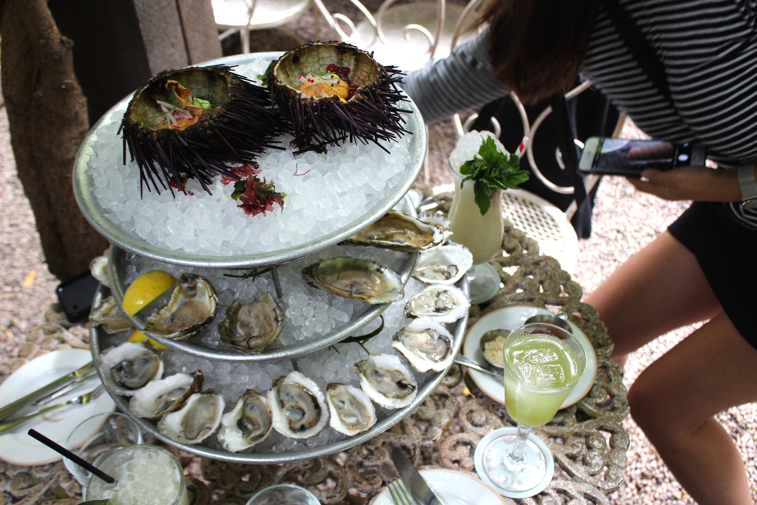 Oysters, Uni, and Absinthe