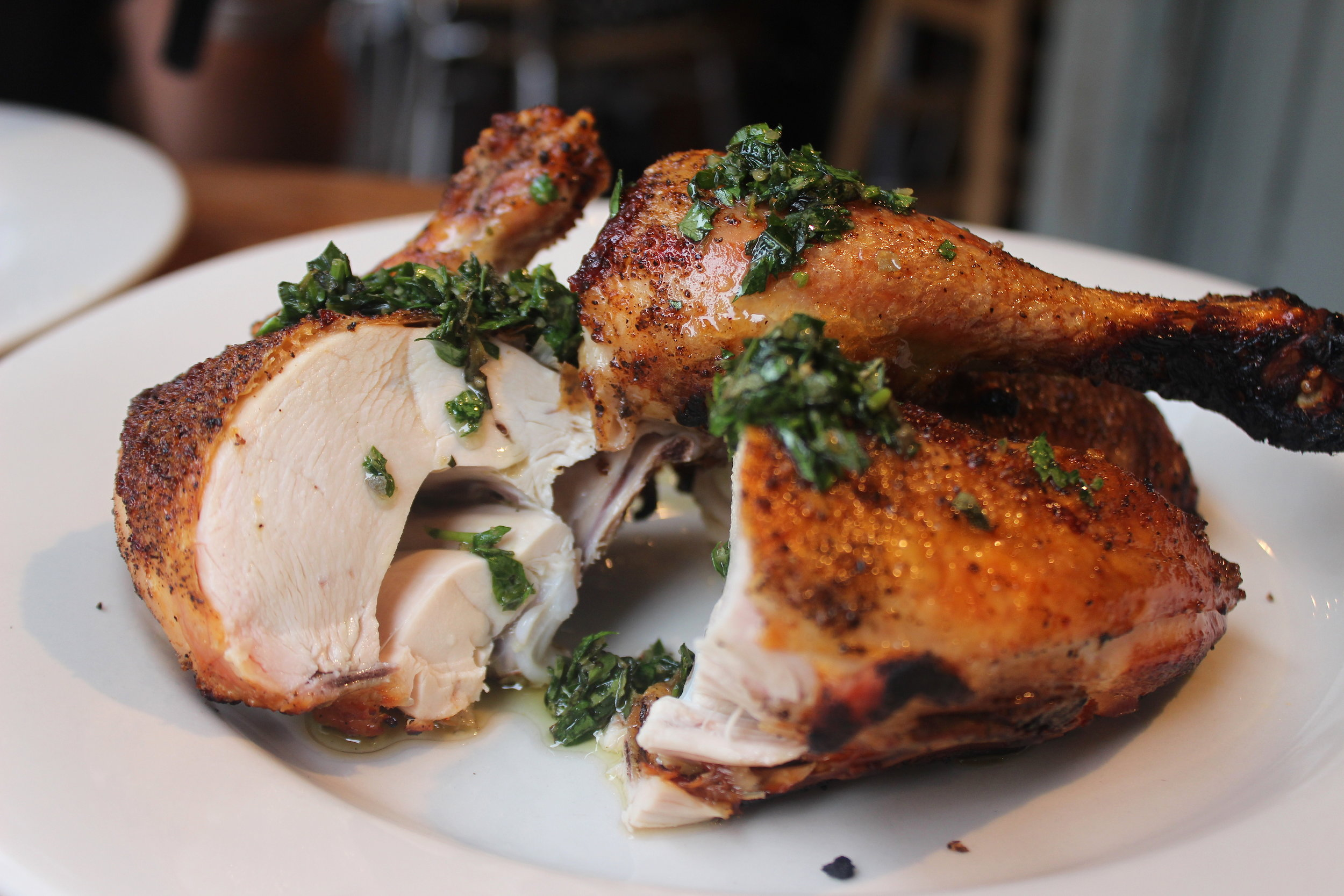 Pollo al forno: Jonathan Waxman chicken & salsa verde at Barbuto