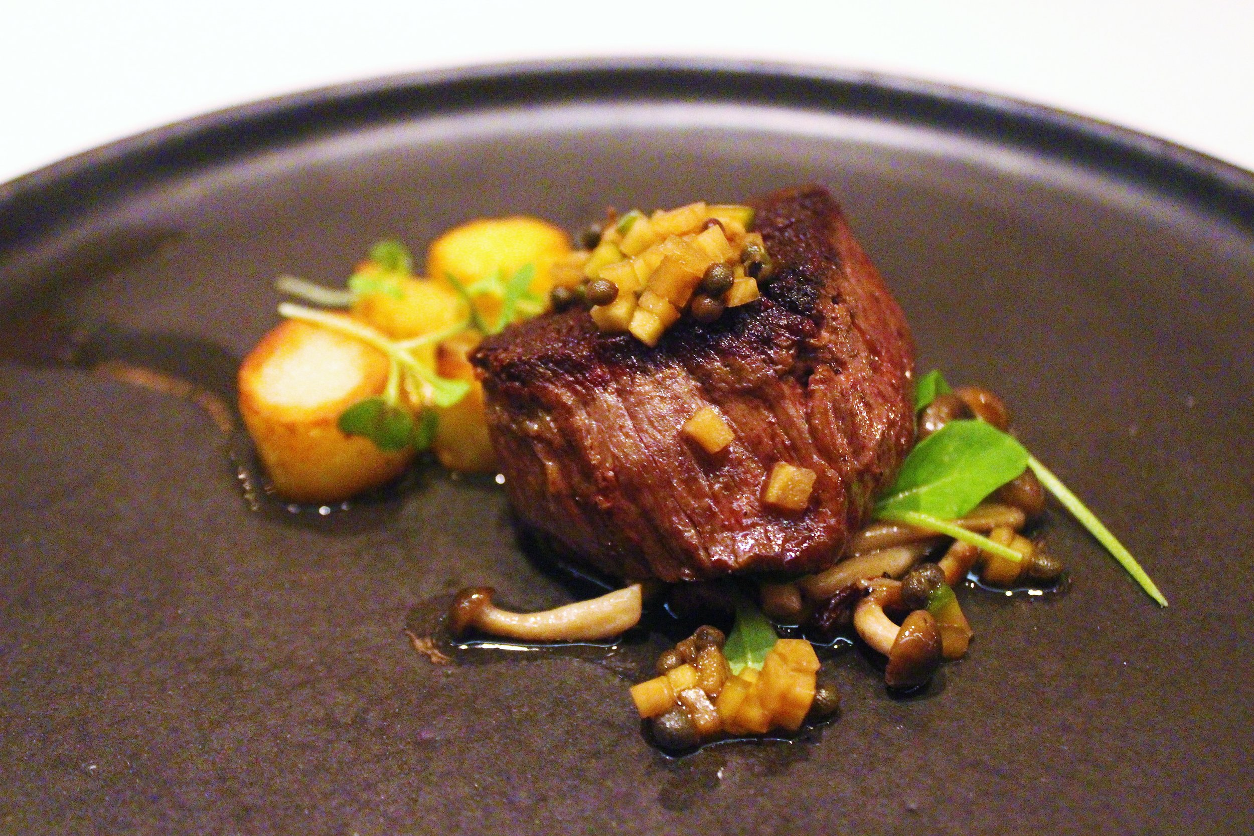Wagyu Tenderloin with Sancho Jjangajji