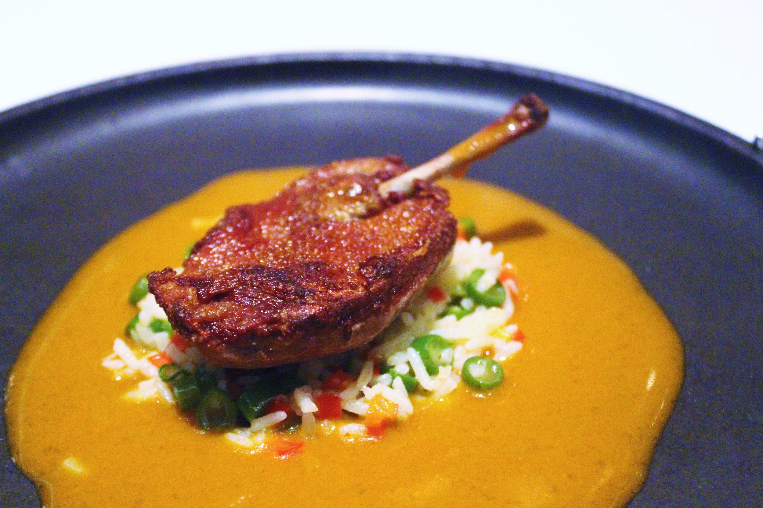 Squab with Spicy Red Curry