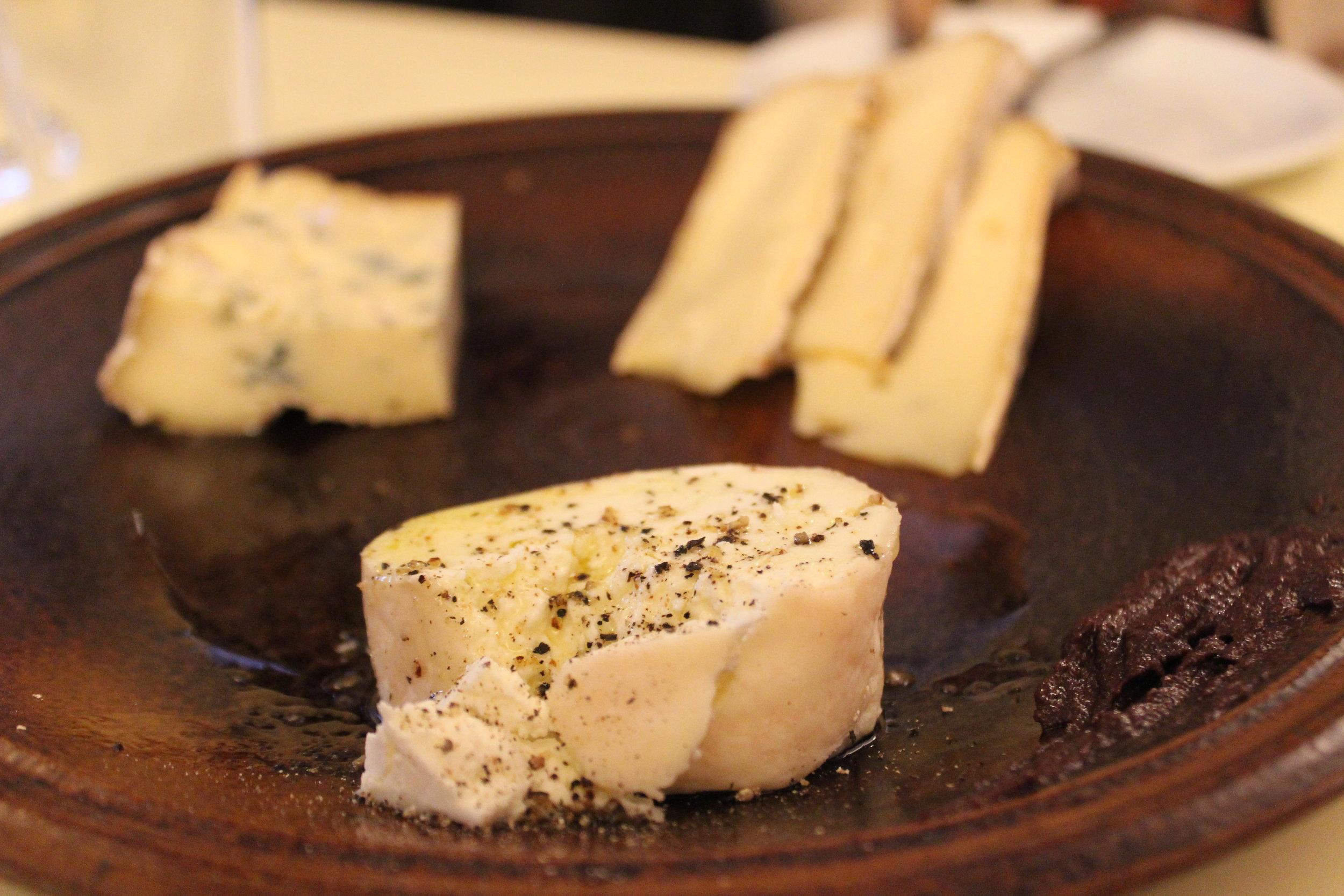 Cheese Plate: Saint Nectaire, Fourme d'Ambert, Crottin de Chavignol at Au Passage