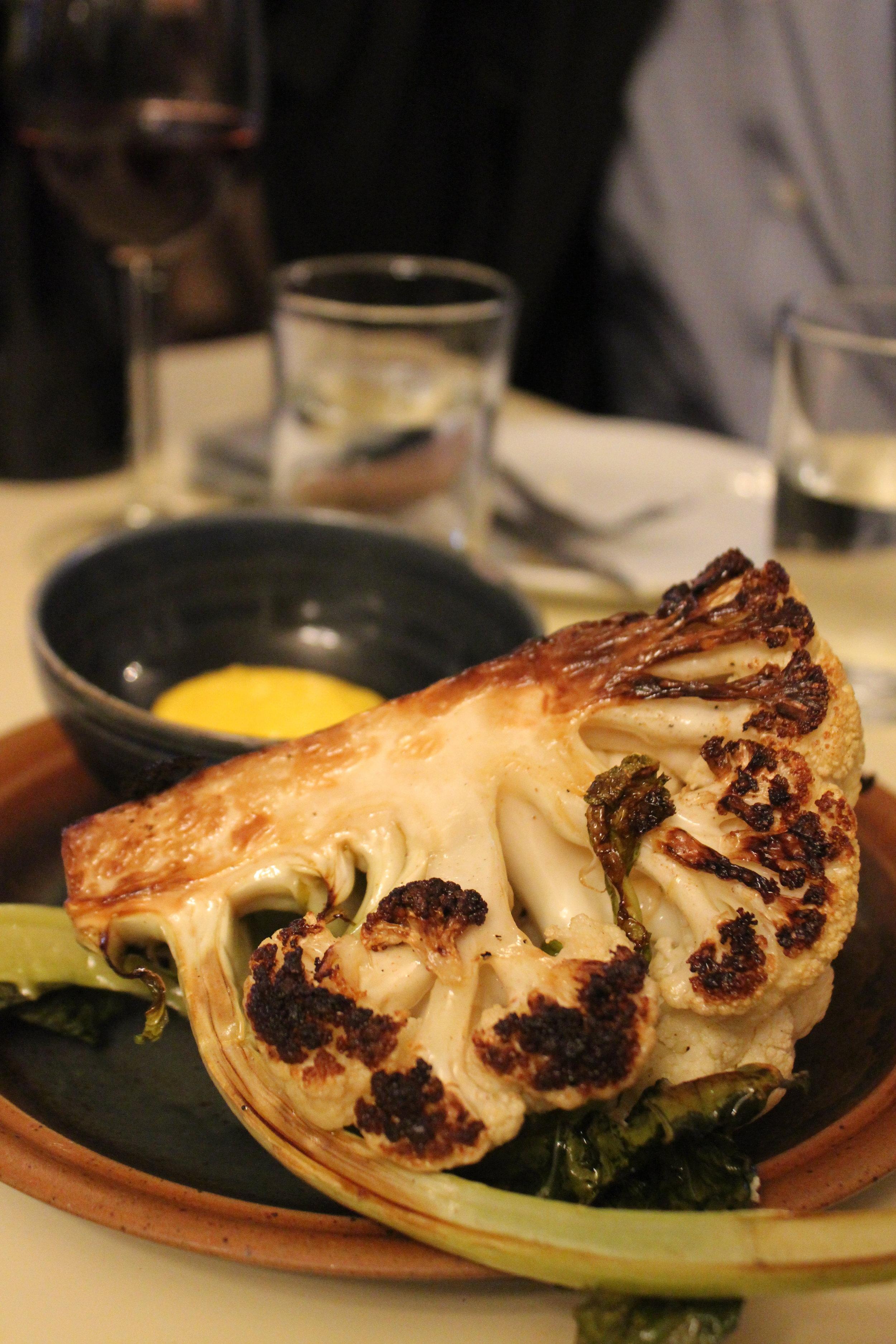 Cauliflower, saffron aioli at Au Passage