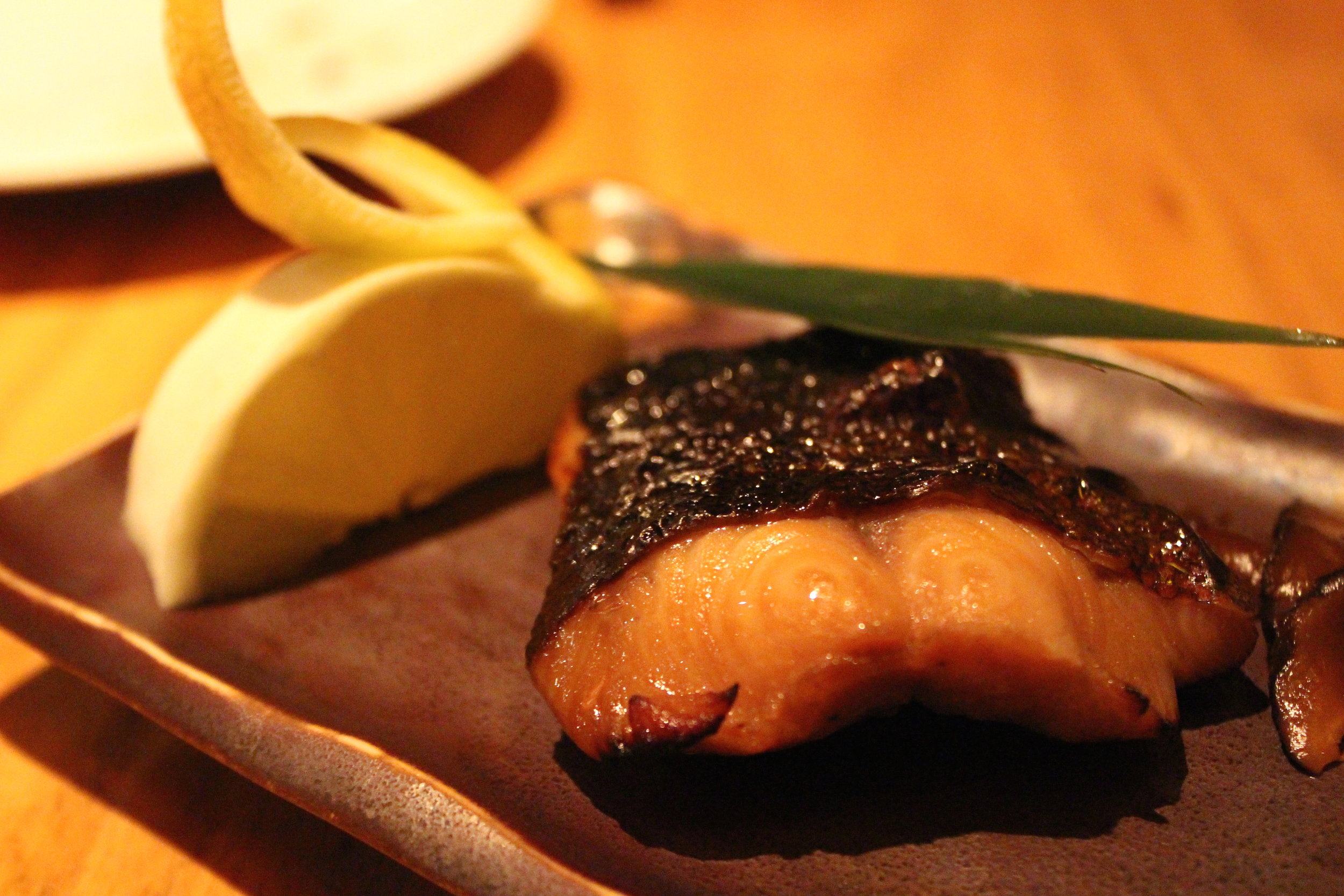 Gindara Yuan Yaki: Grilled Fillets of Cod Fish Steeped in Sweet Soy Sauce