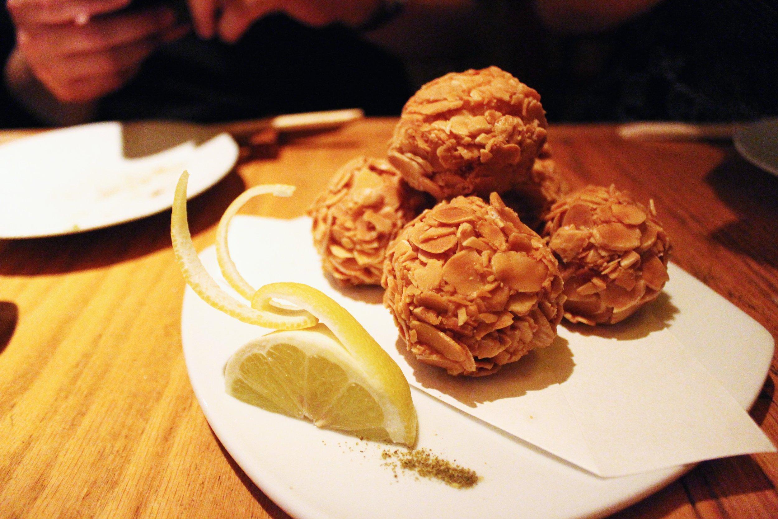Ebi Shinjo: Deep Fried Shrimp Balls Covered with Sliced Almonds