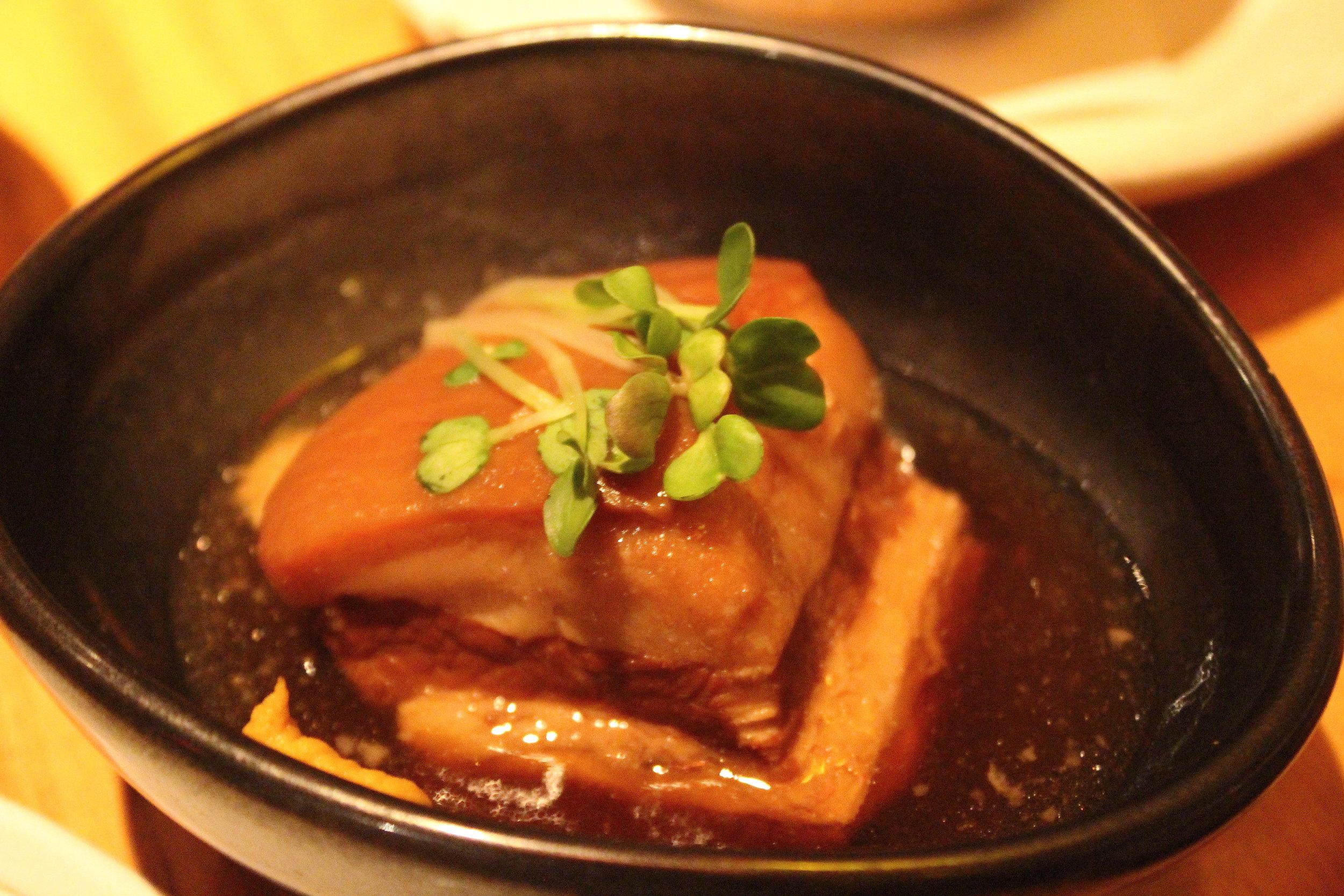 Buta Kakuni: Sakagura Special Stewed Diced Pork at Sakagura