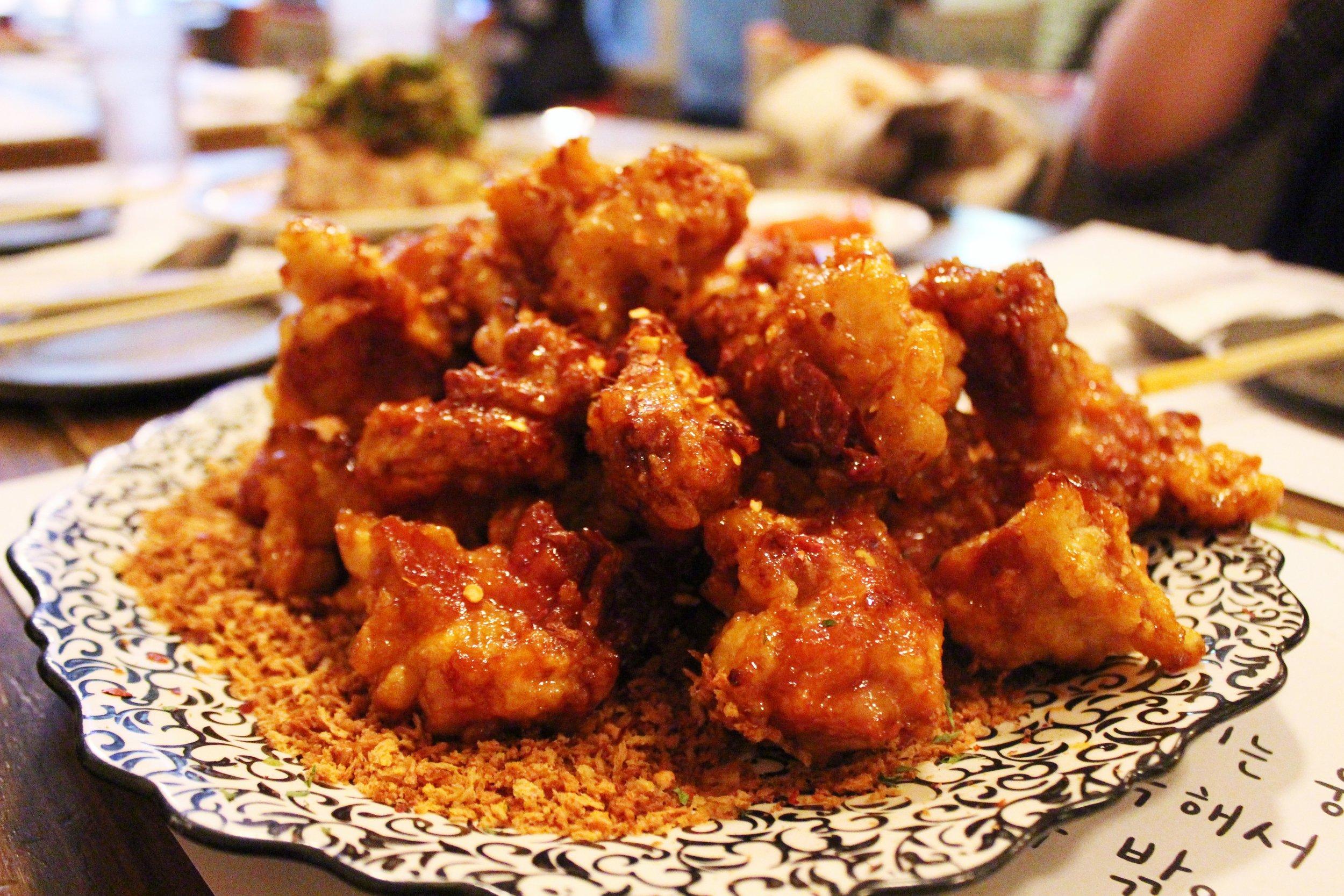 Garlic Crust and Spicy Crispy Chicken at Take31