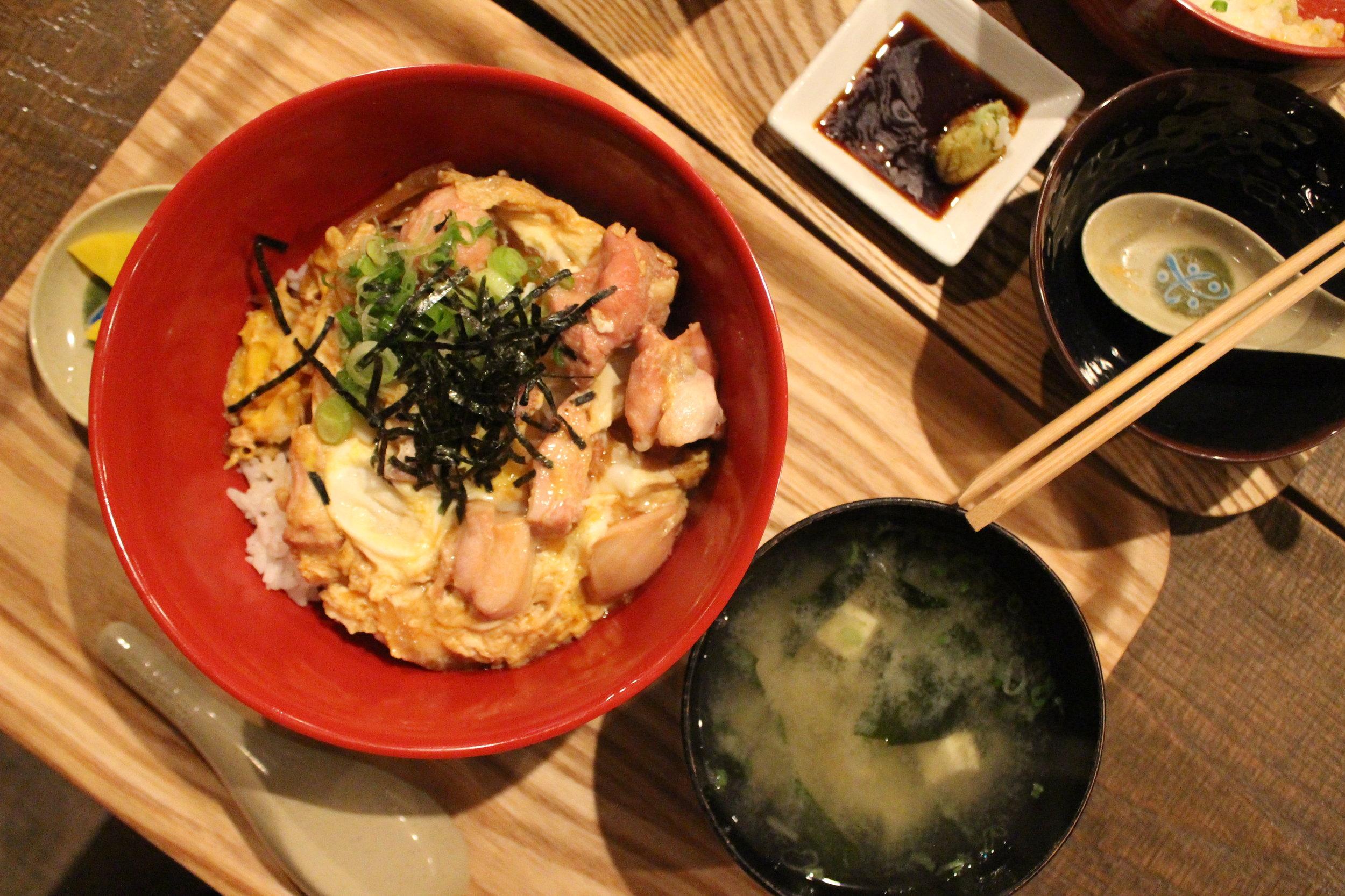 Oyako Don: Simmered Chicken and Egg over rice at Izakaya Mew