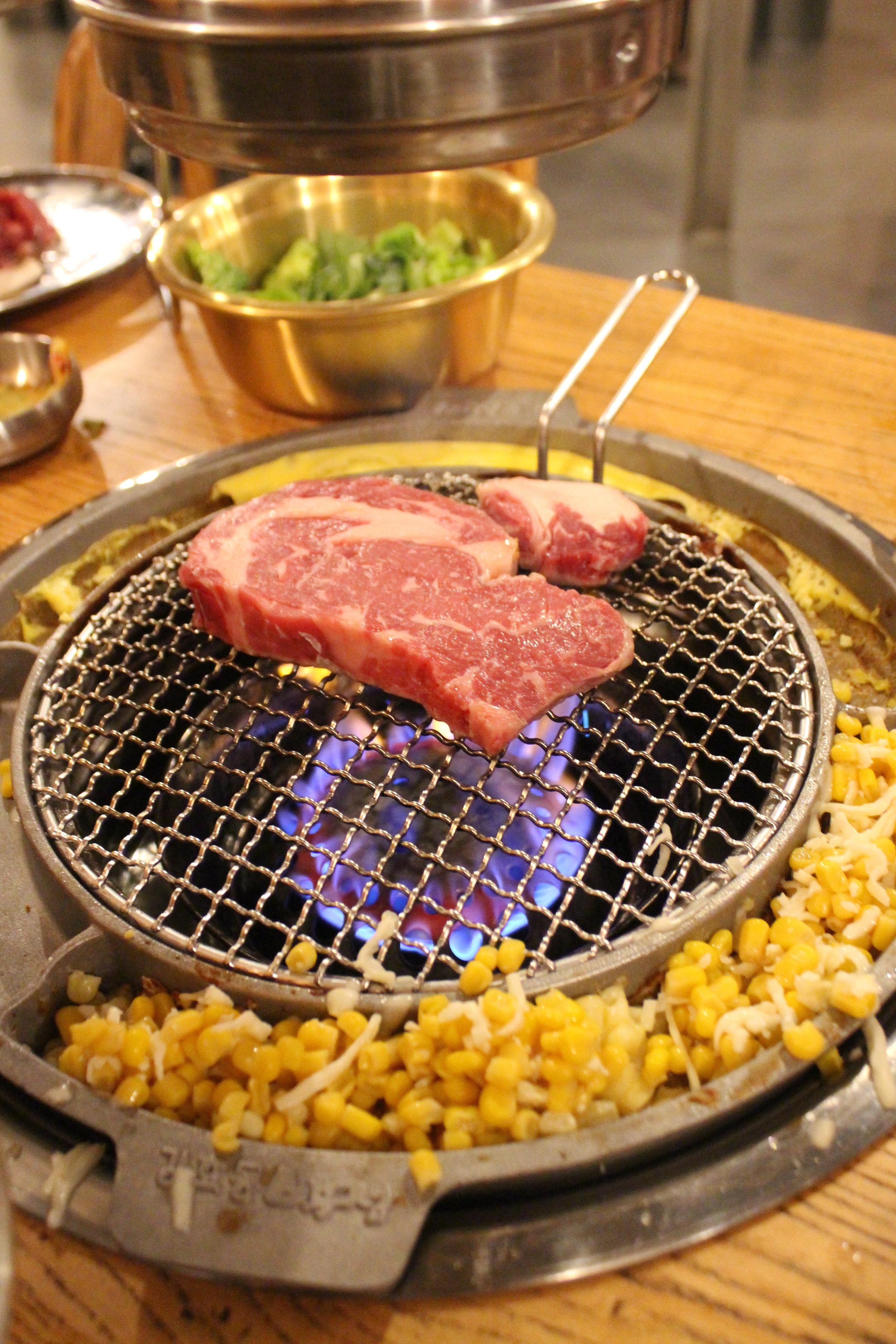 Prime Rib Eye - Korean BBQ at Kang Ho Dong Baekjeong