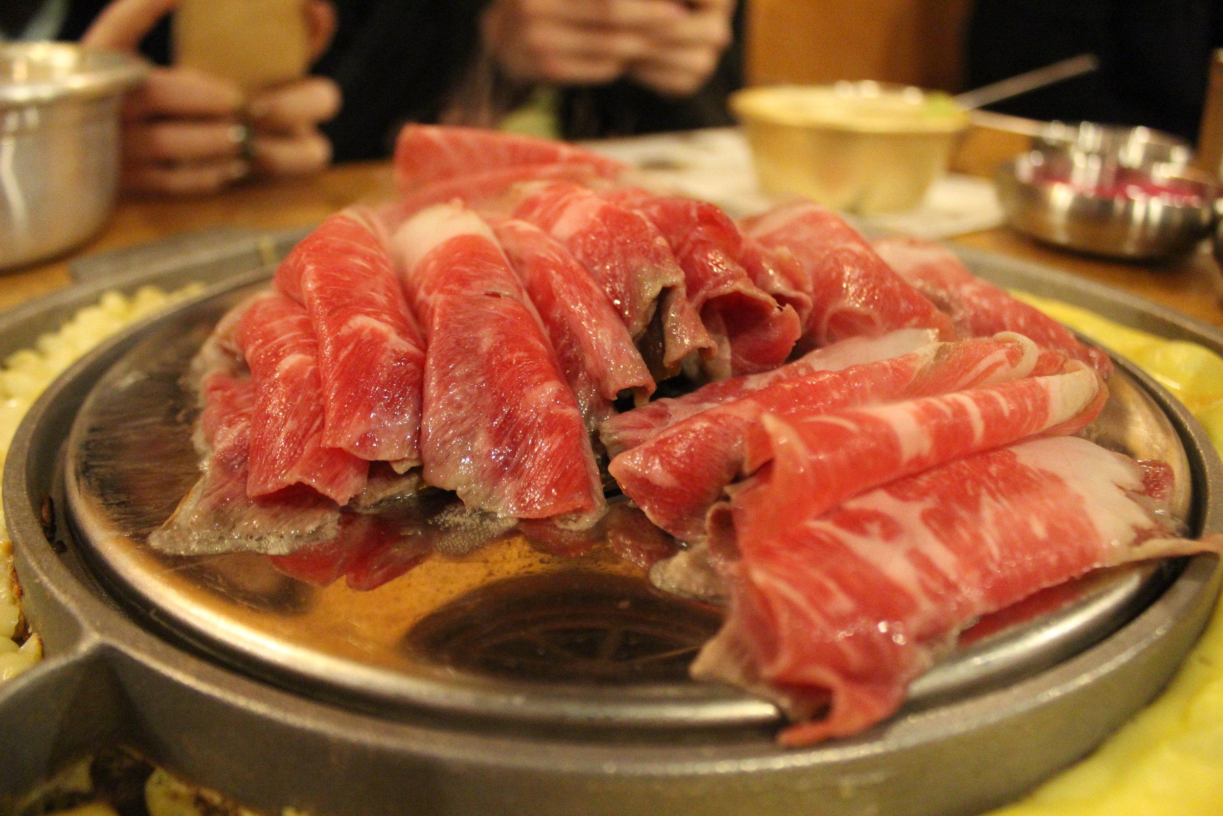 Thinly Sliced Brisket - Korean BBQ at Kang Ho Dong Baekjeong