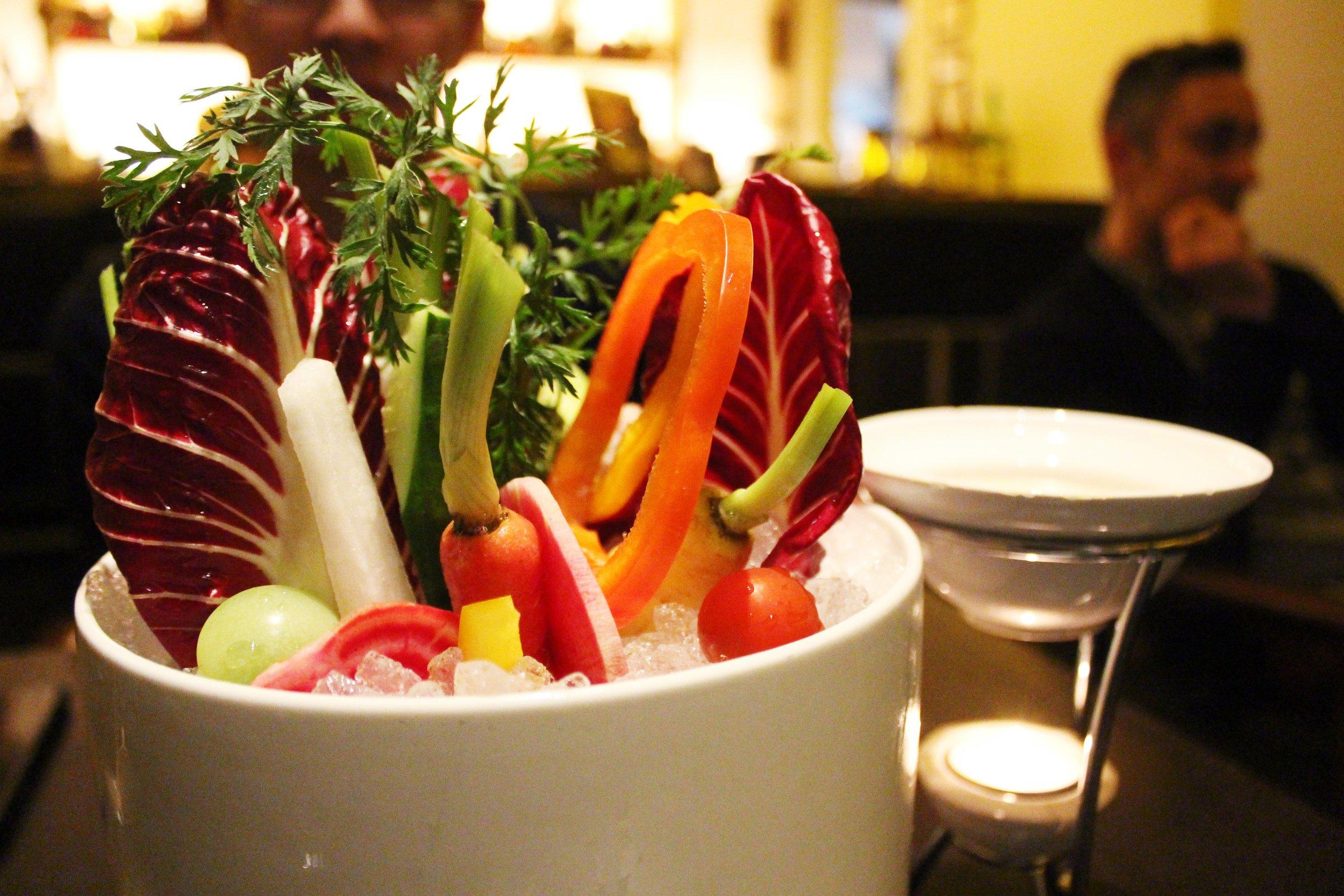 Vegetable Fondue at Bohemian Restaurant