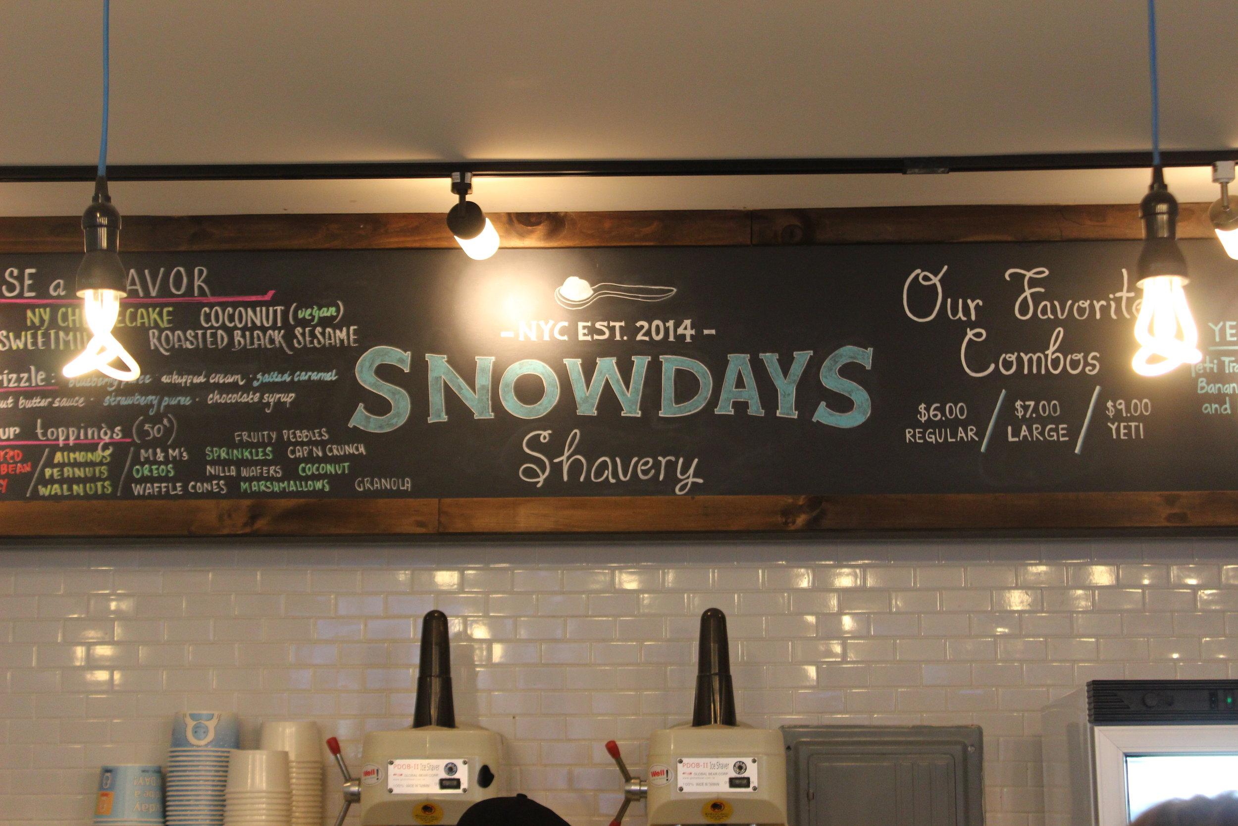 Yeti Food at Snowdays Shavery