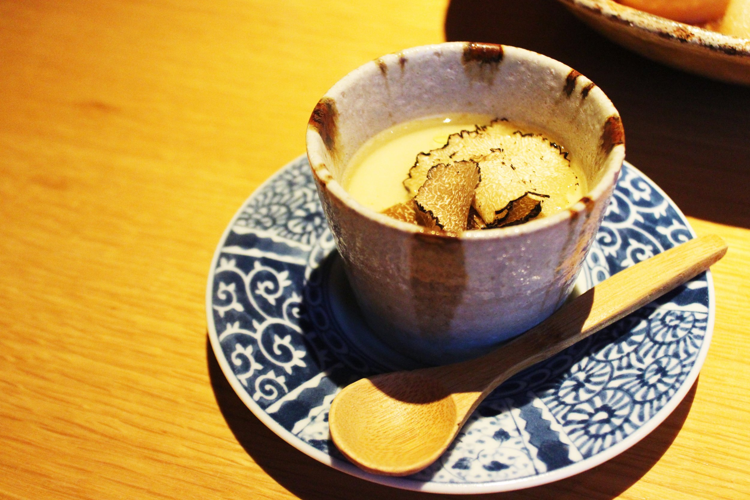 Chawanmushi with Shaved Black Truffles