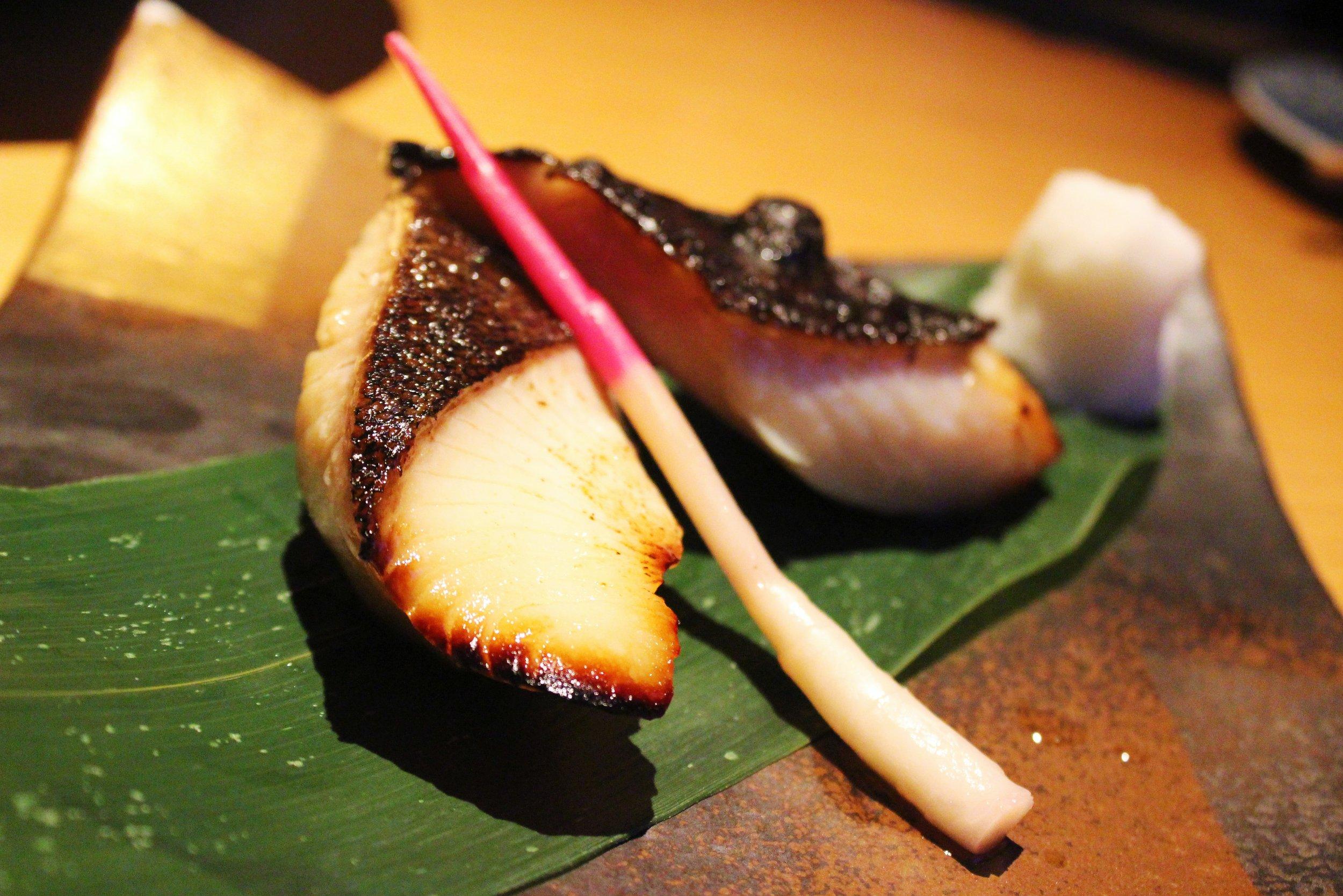 Broiled Alaskan Black Cod marinated in Saikyo Miso