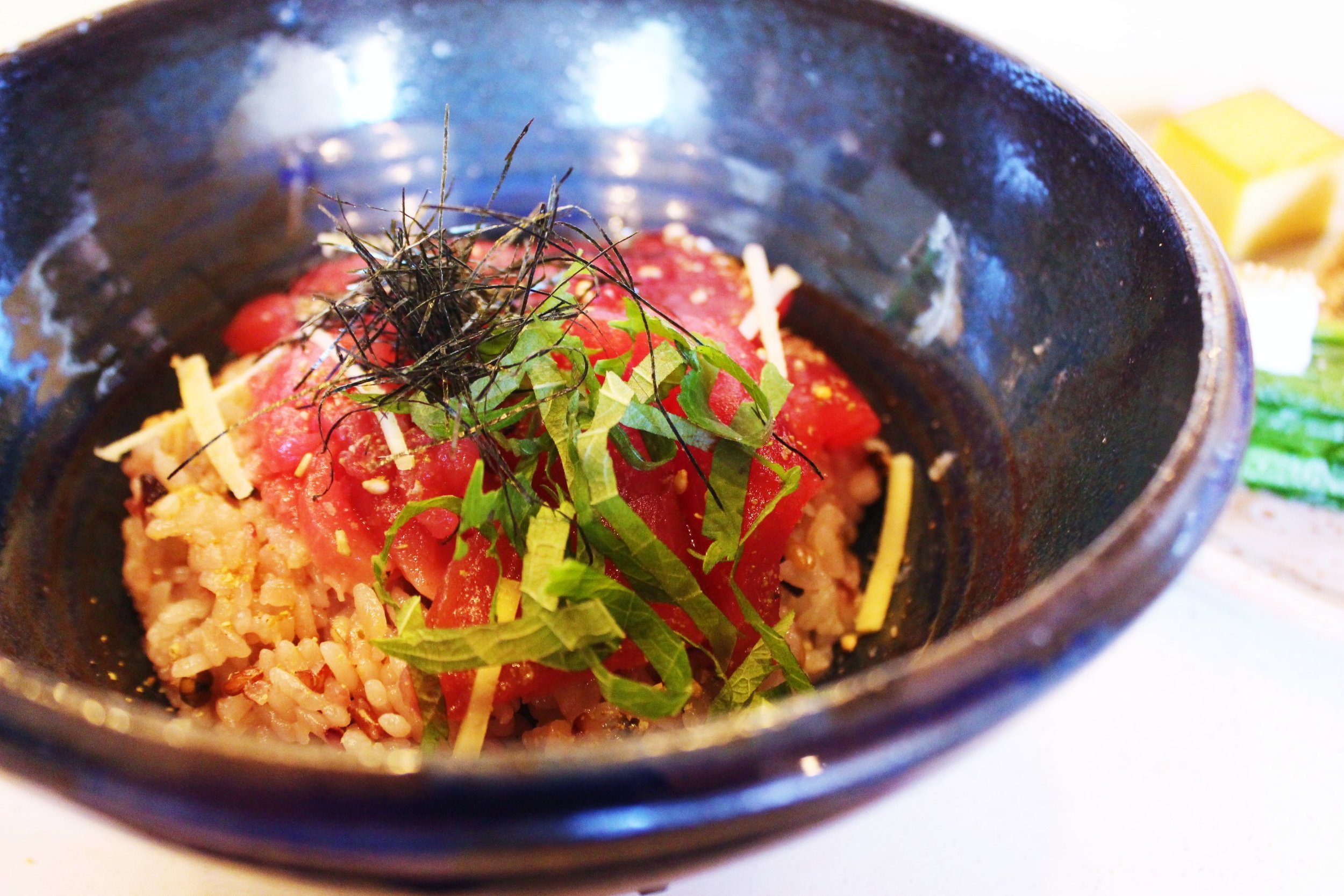 Wild Bluefin Tuna Donburi at Okonomi